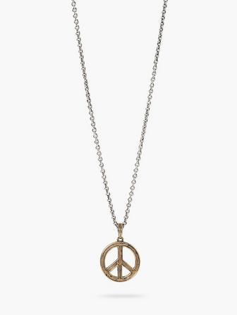 Brass Peace Necklace