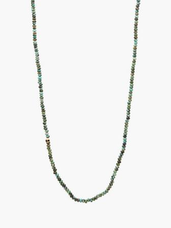 Brass & Turquoise Beaded Necklace