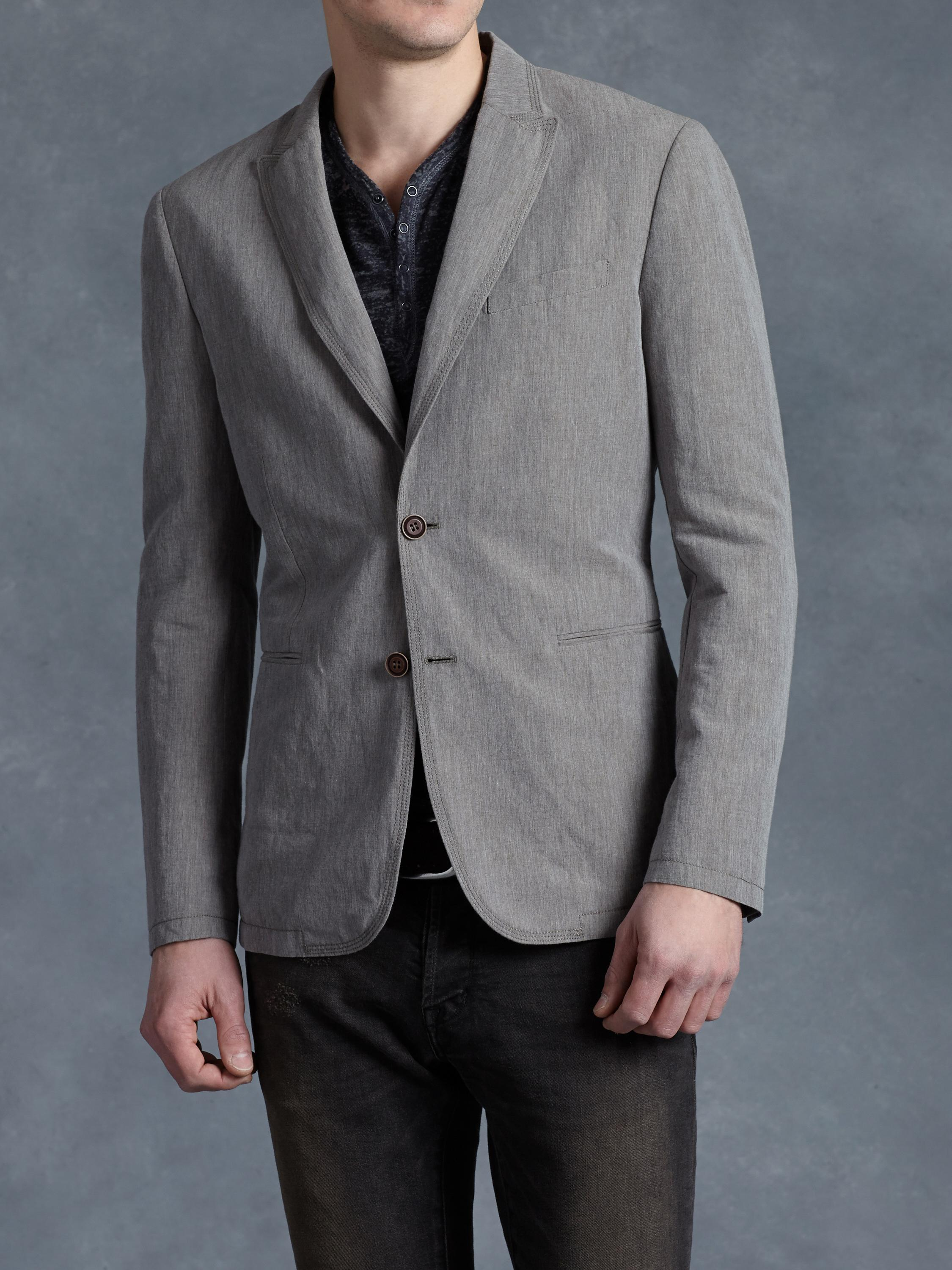 Topstitch Linen Jacket