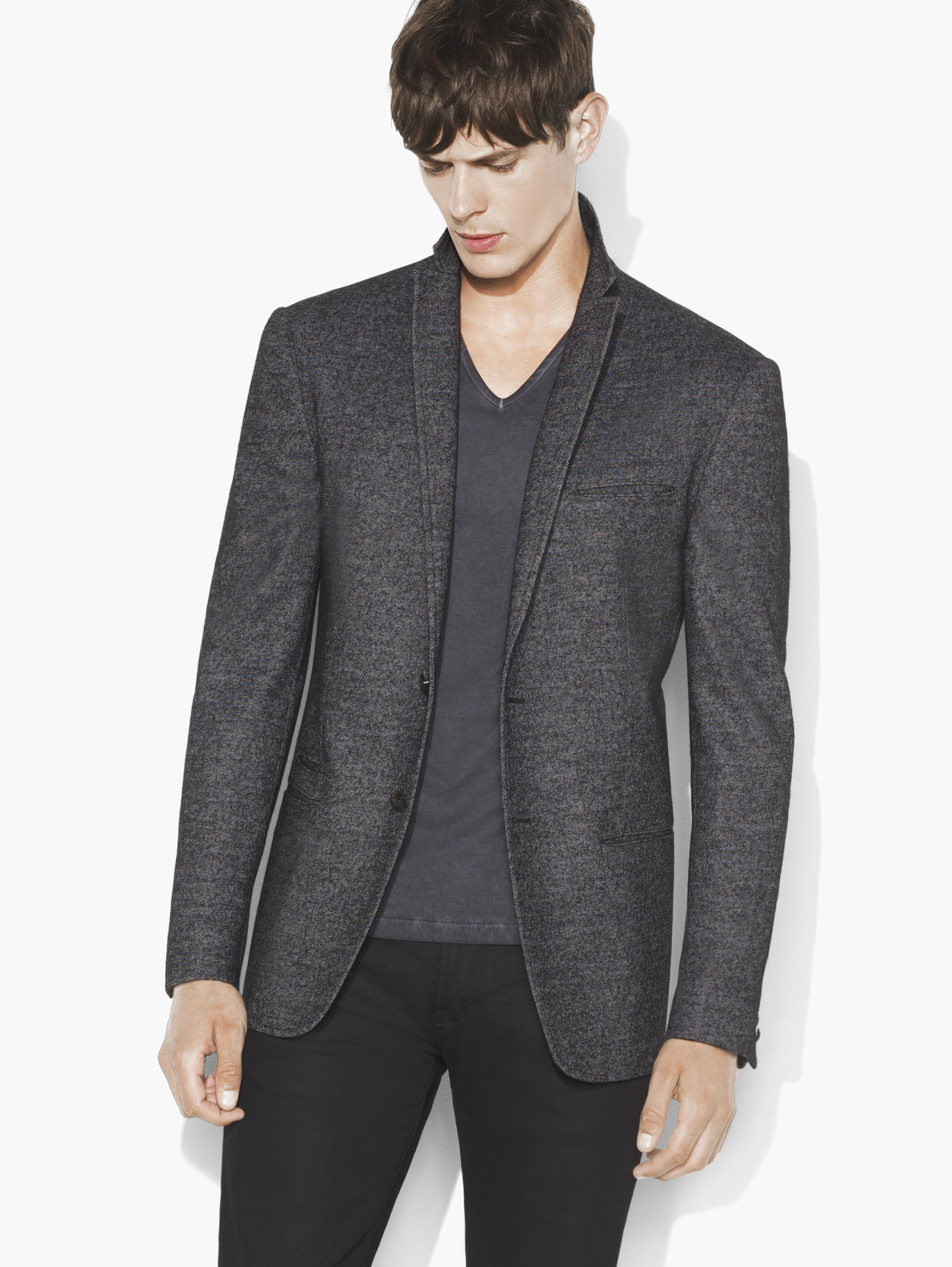 Basketweave Notch Lapel Jacket