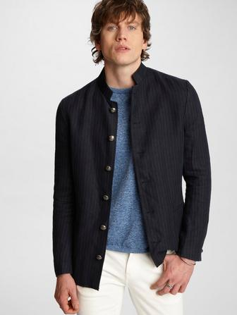 Willy Indigo Pinstripe Jacket
