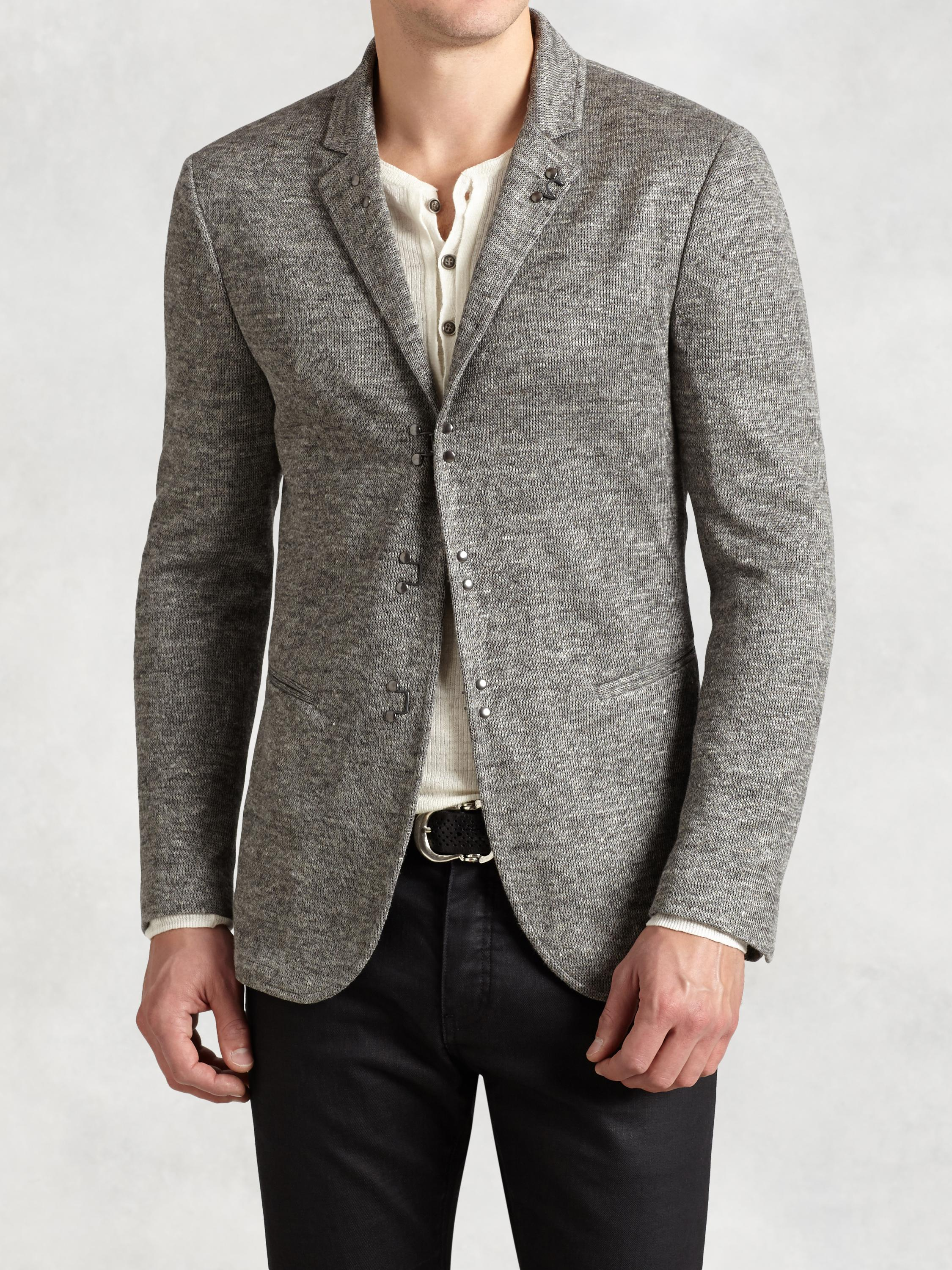 Linen Cotton Hook & Bar Jacket