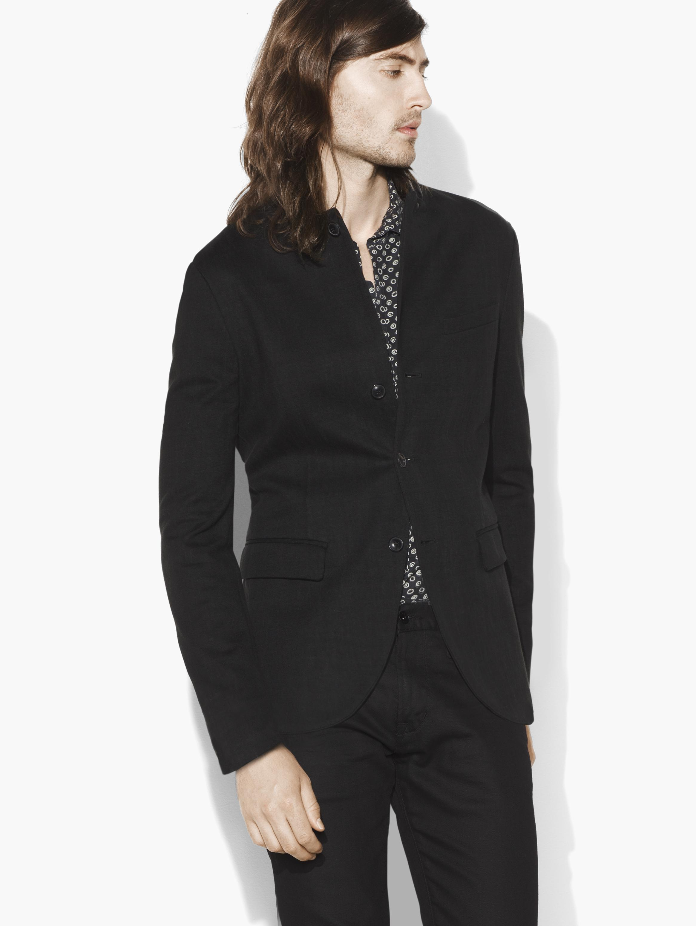 Cutaway Notch Lapel Jacket