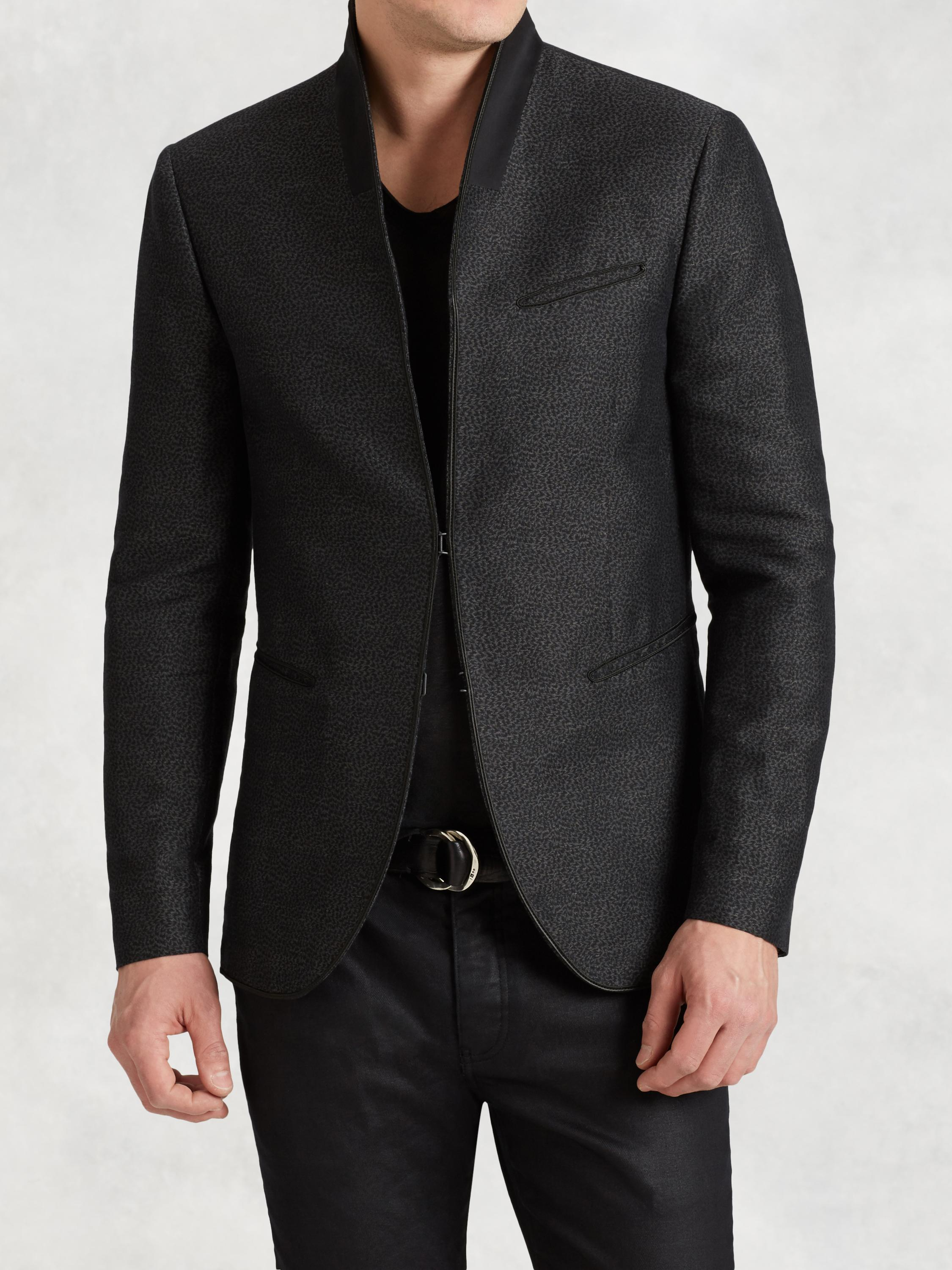 Shawl Collar Linen Jacket