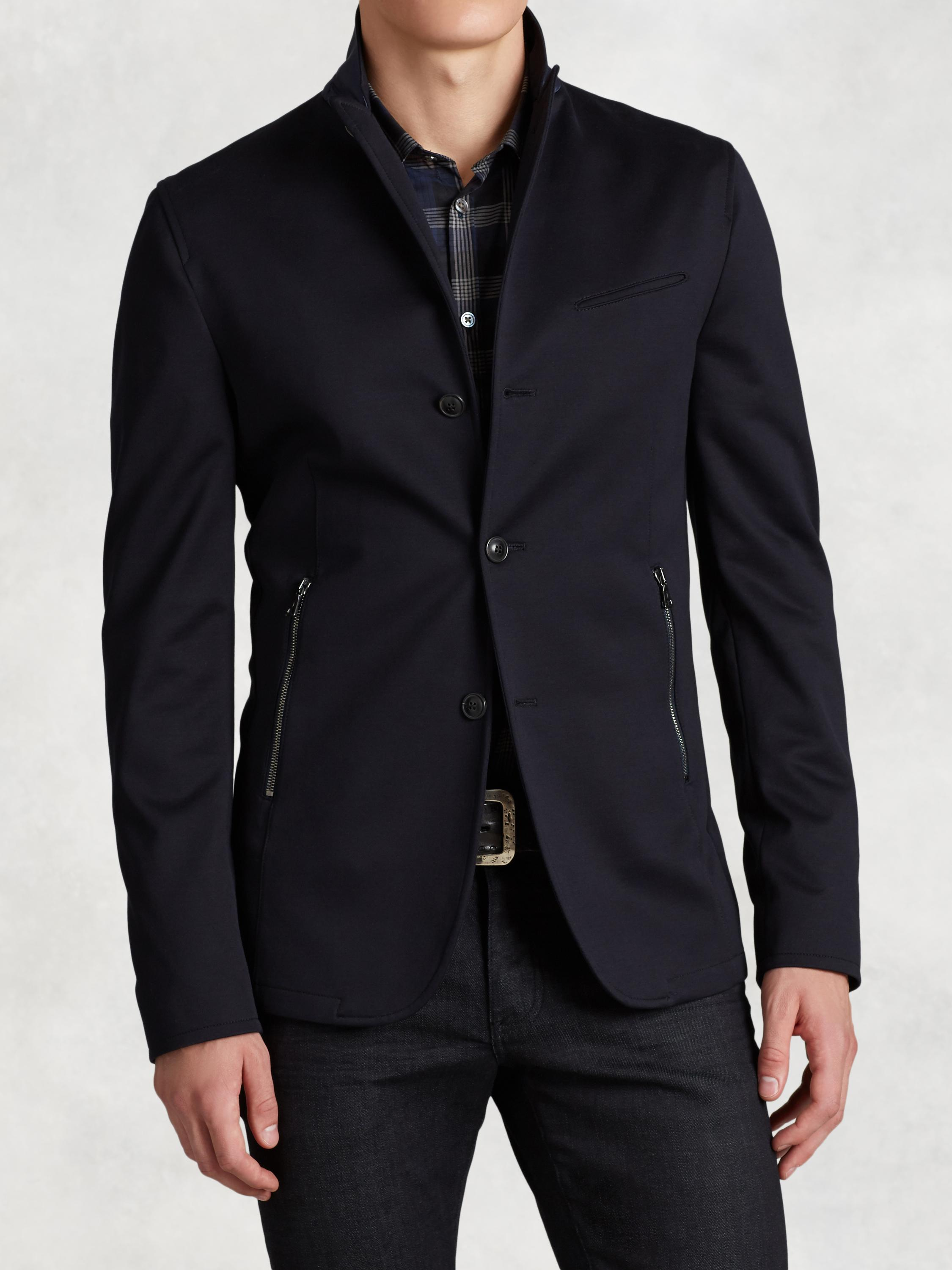 Cotton Jacket with Zip Detail