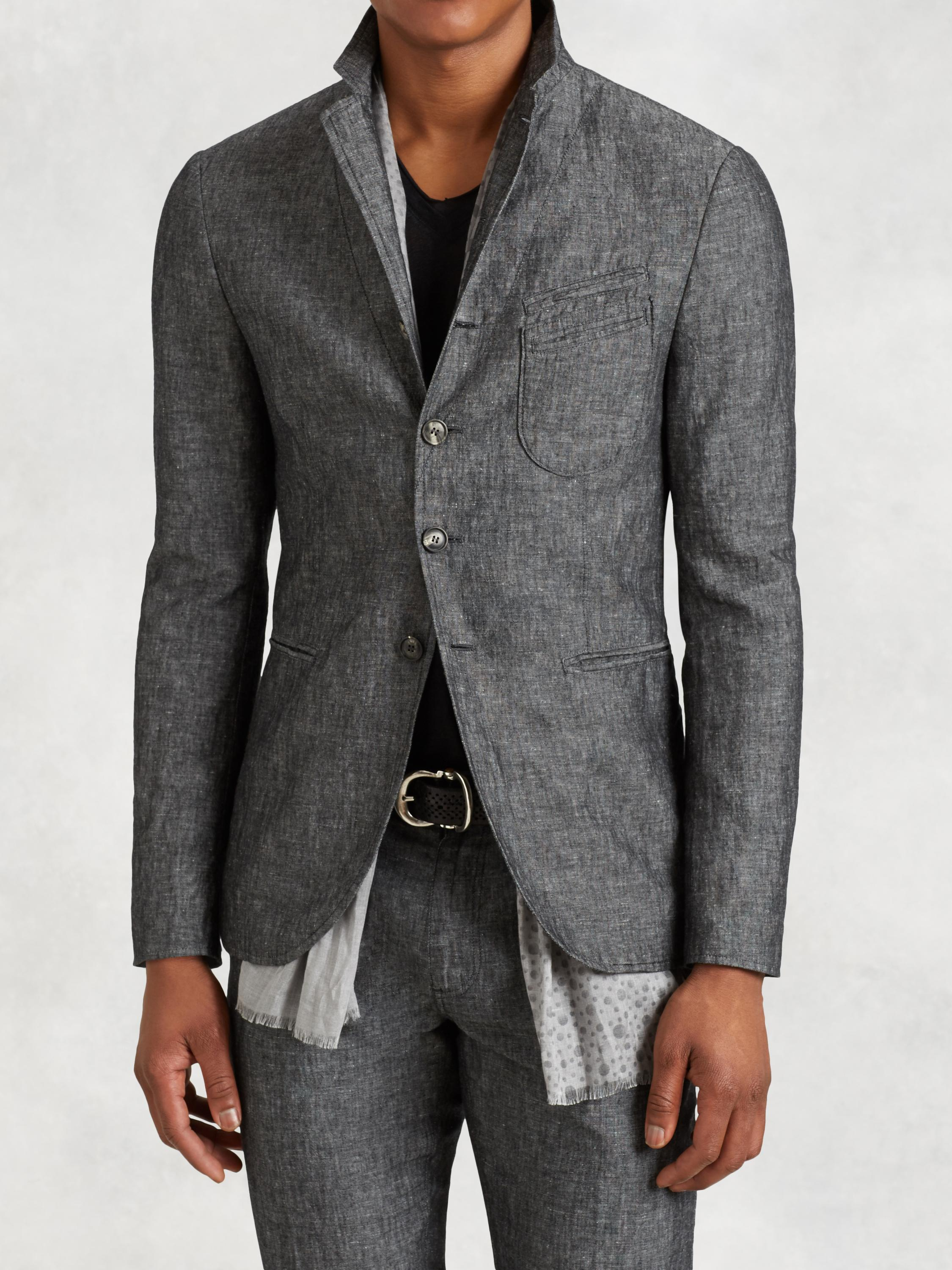 Cotton Linen Stitch Through Jacket