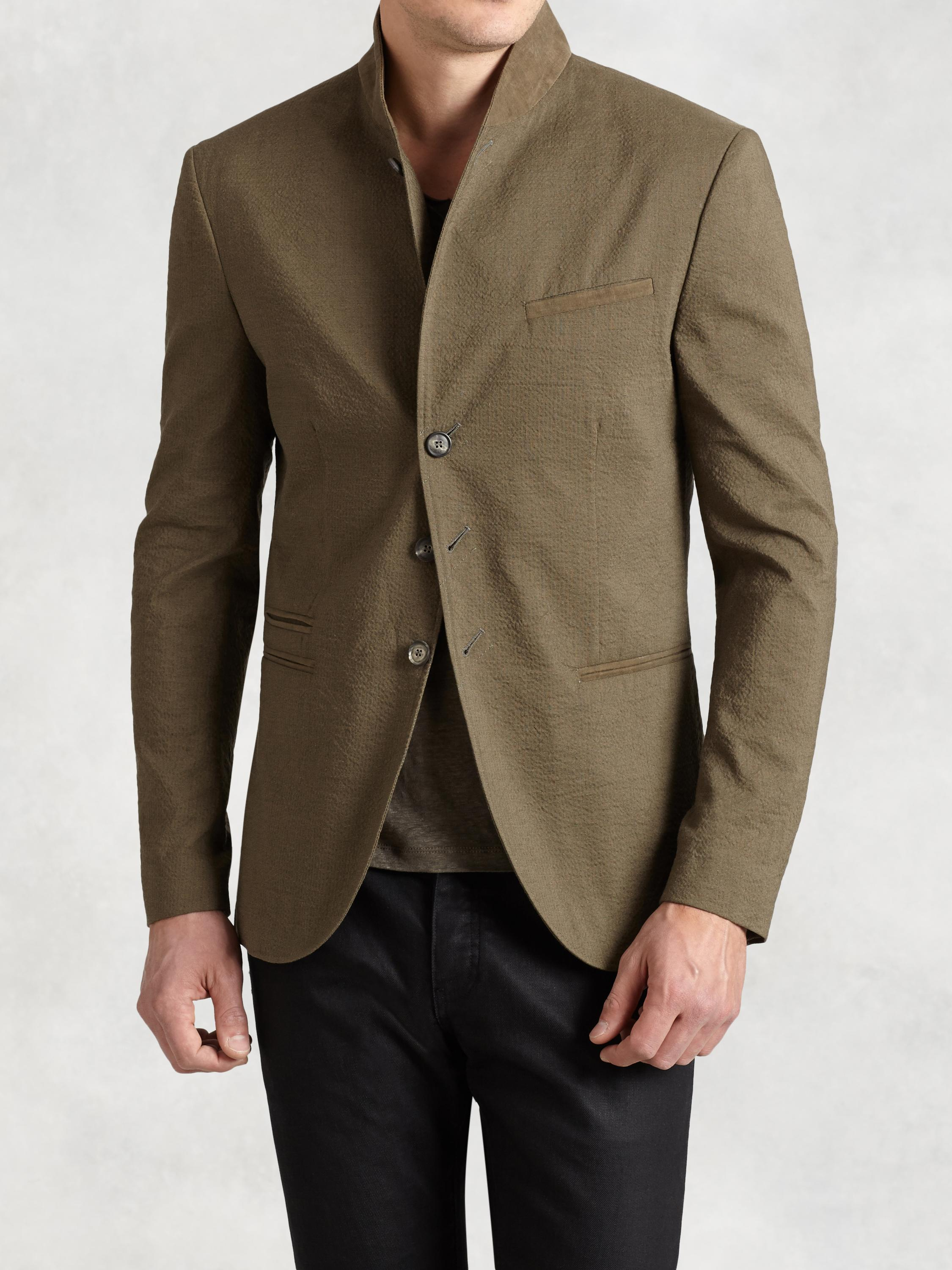 Linen Cotton Shawl Collar Jacket