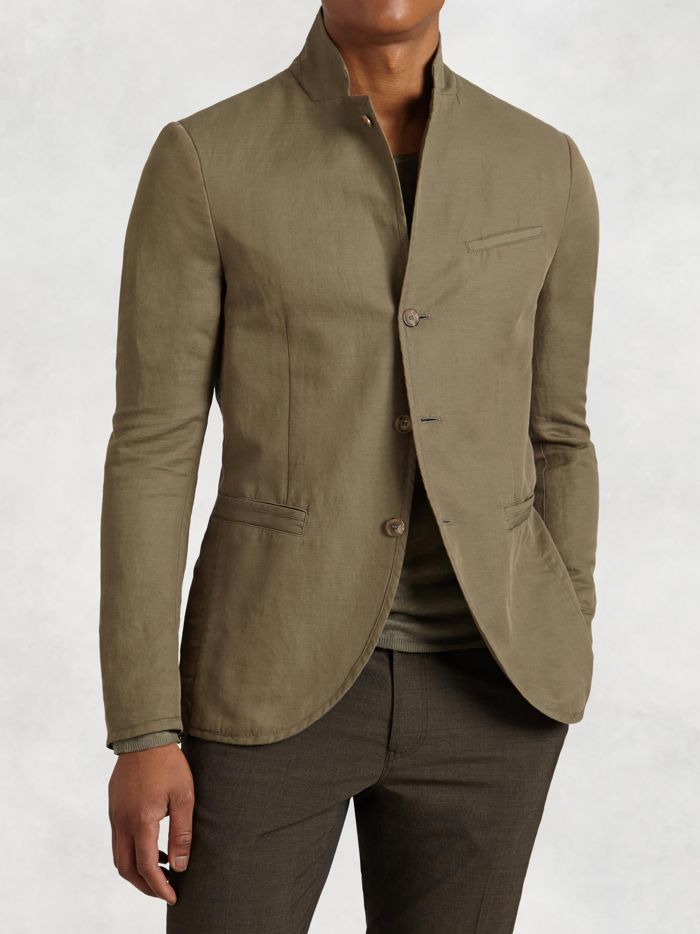 Three Button Notch Lapel Jacket