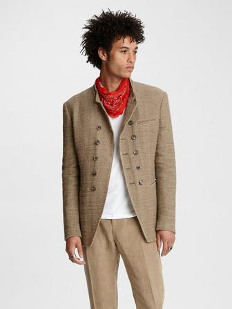 Open Weave Double-Breasted Jacket
