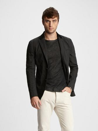 LEATHER TOP COLLAR JACKET