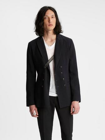 Double-Breasted Peak Lapel Jacket