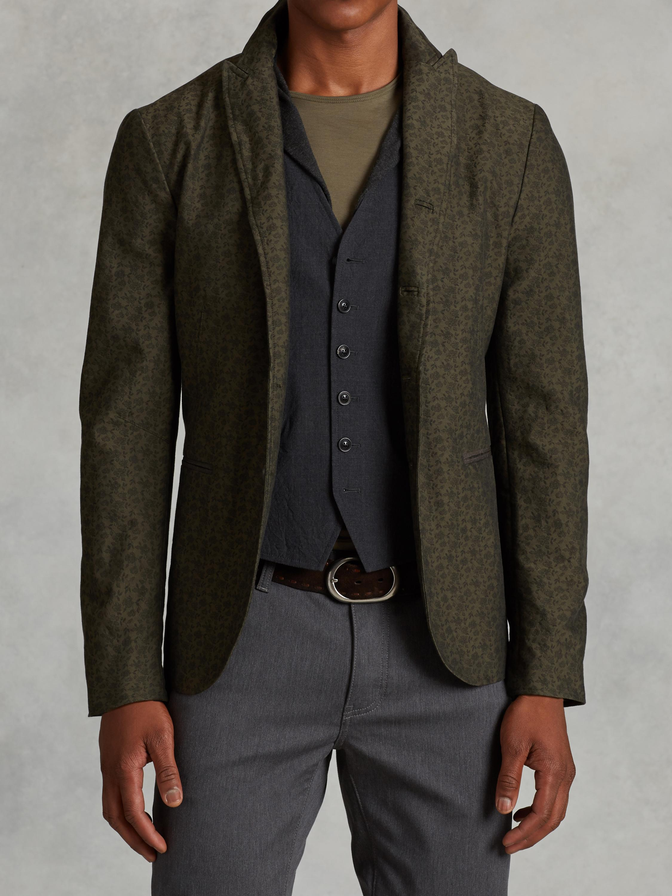 Cotton Peak Lapel Jacket