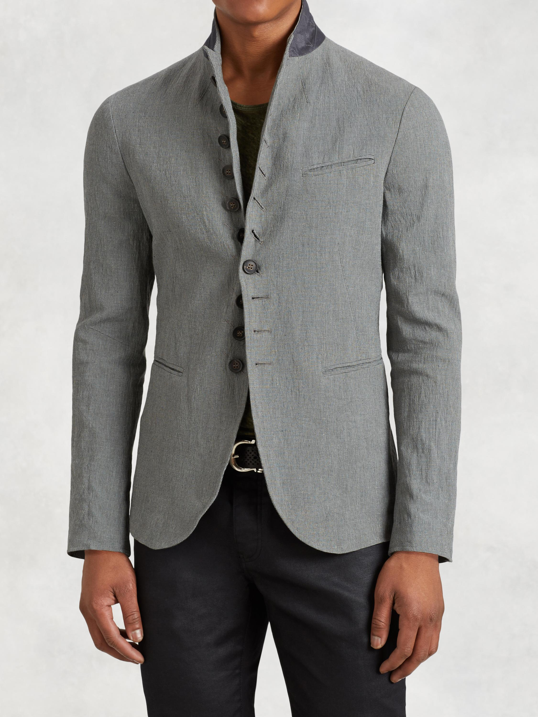 Convertible Peak Lapel Jacket