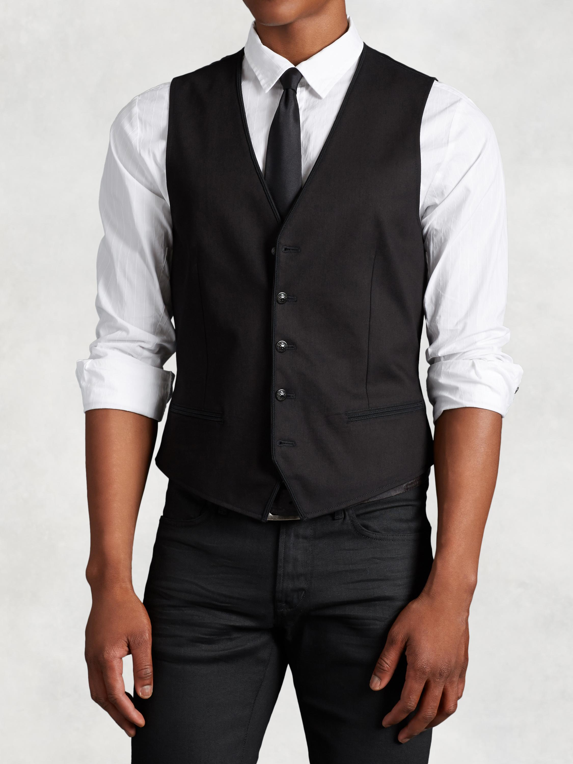Cotton Vest with Piping Detail