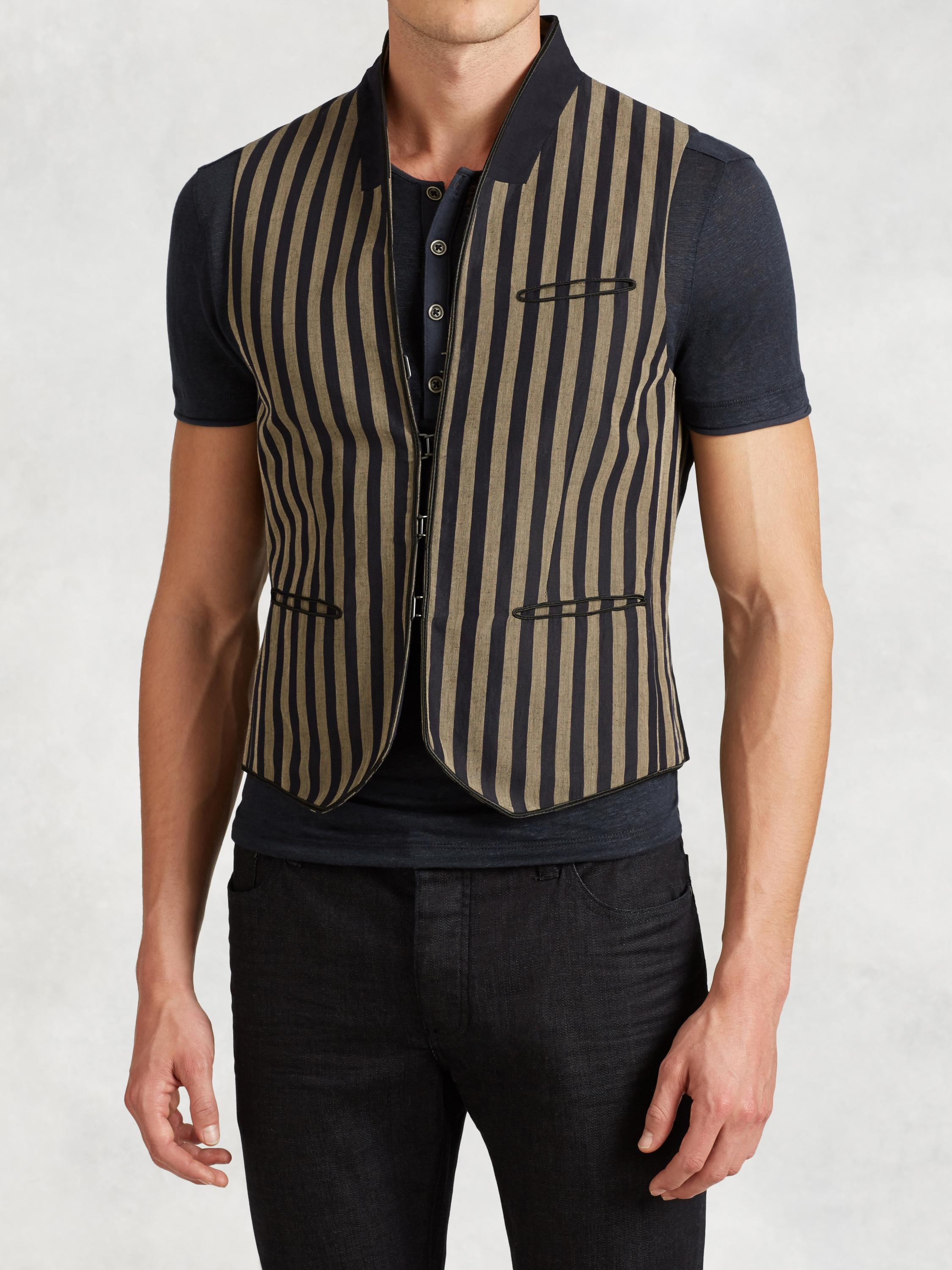 Slim Fit Stripe Vest