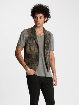 Linen Jacquard Vest