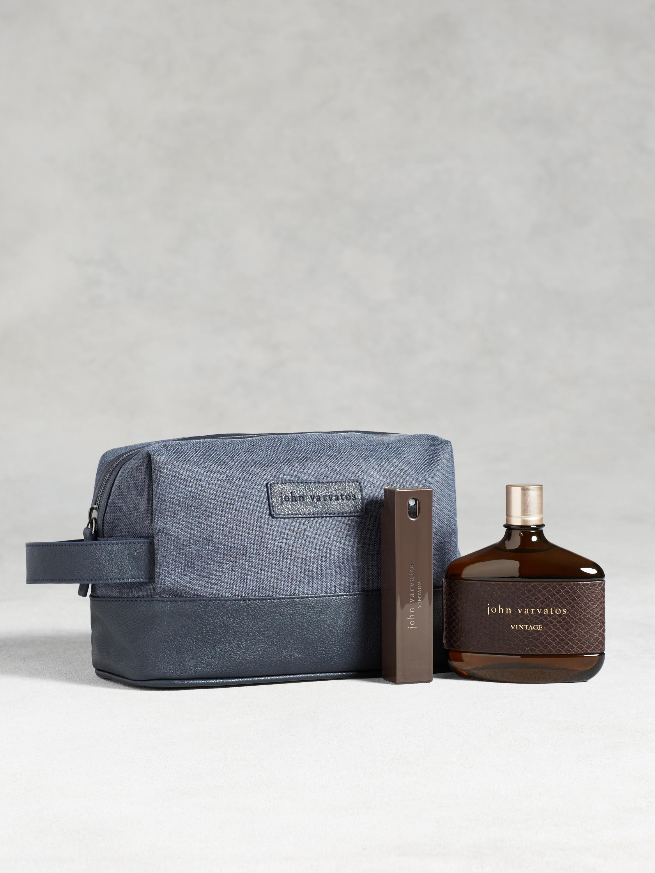 Vintage 4.2oz Dopp Kit Set