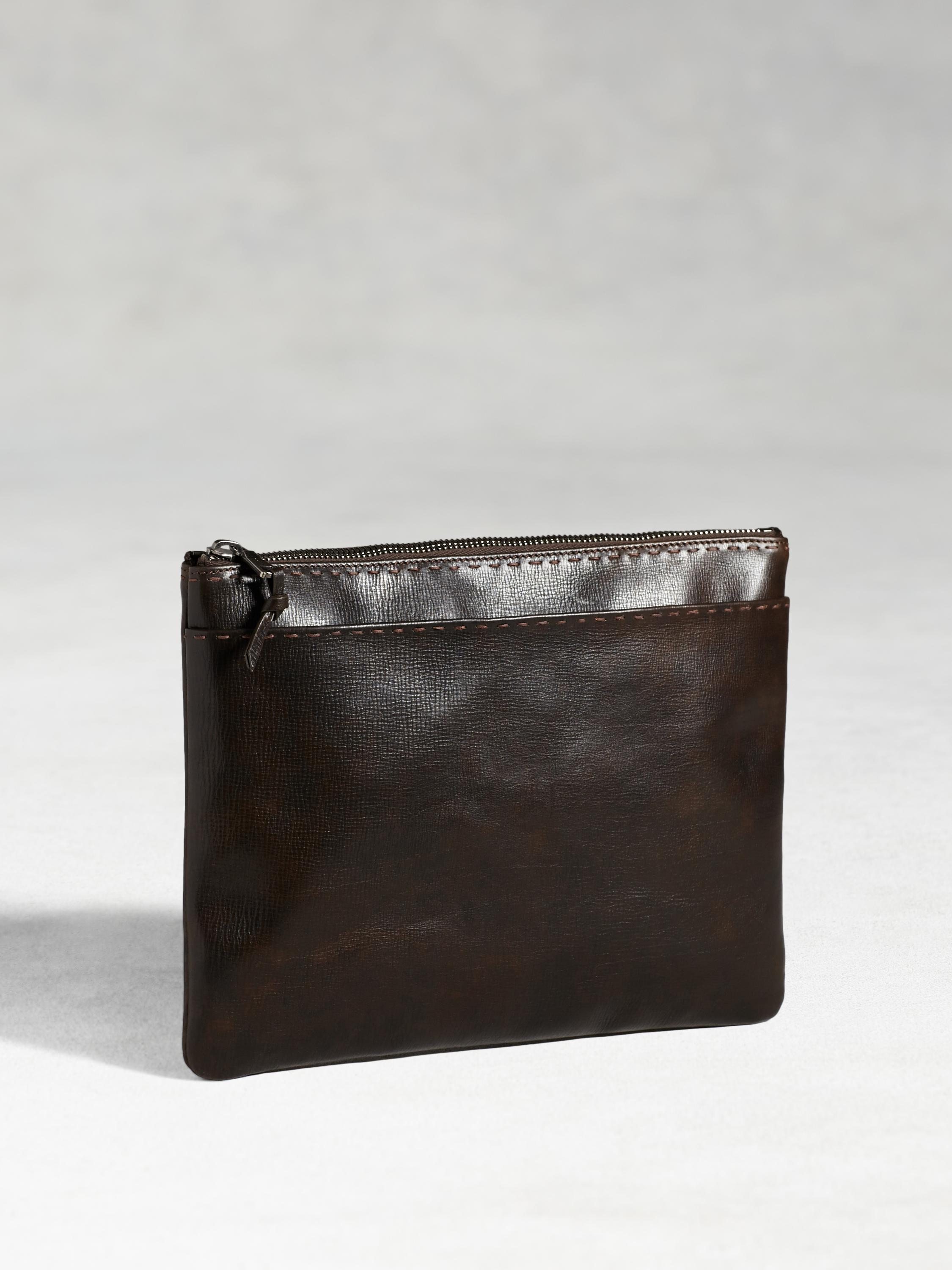 Leather Pick Stitch Pouch