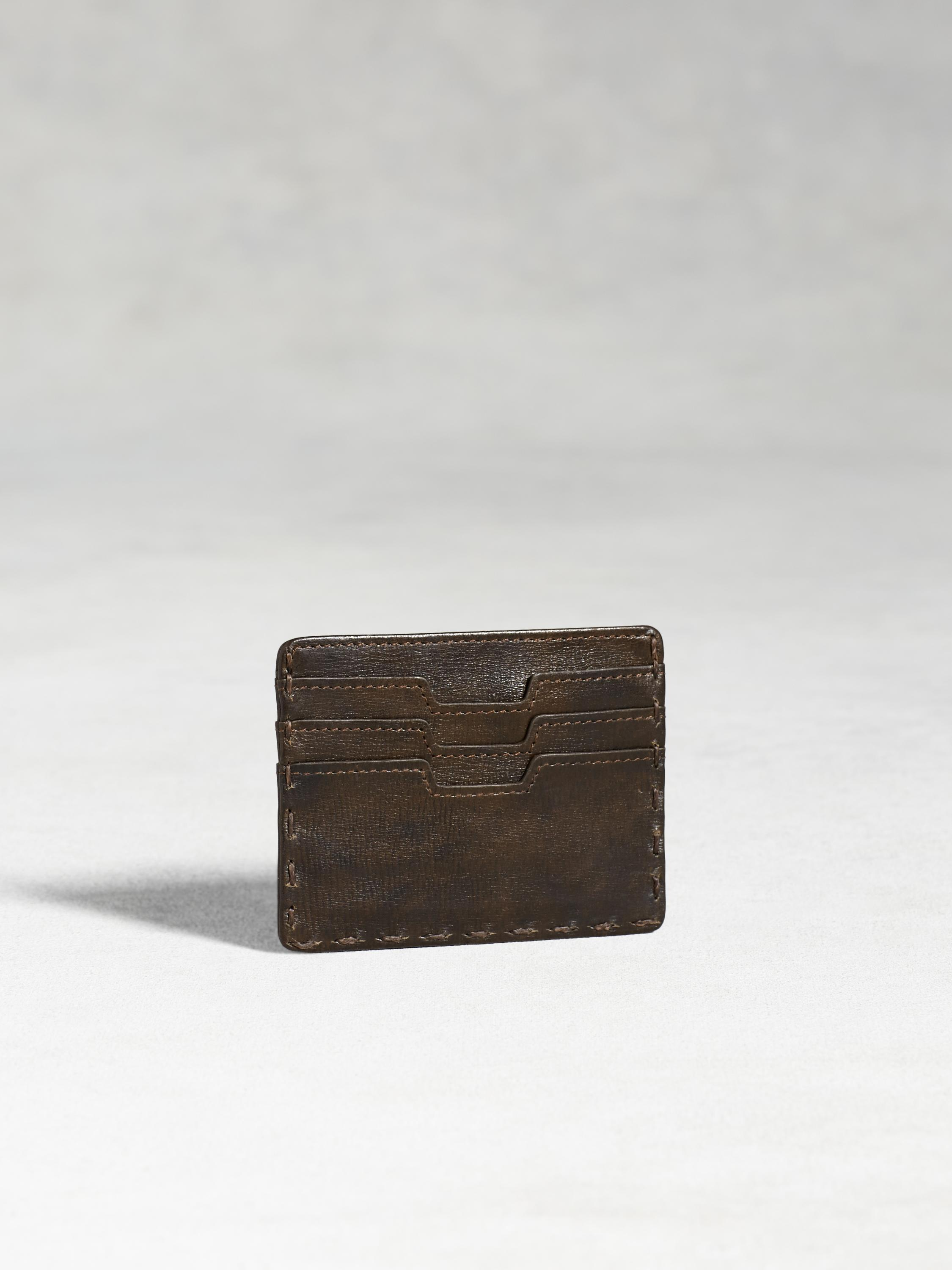 Fold-Over Leather Card Case