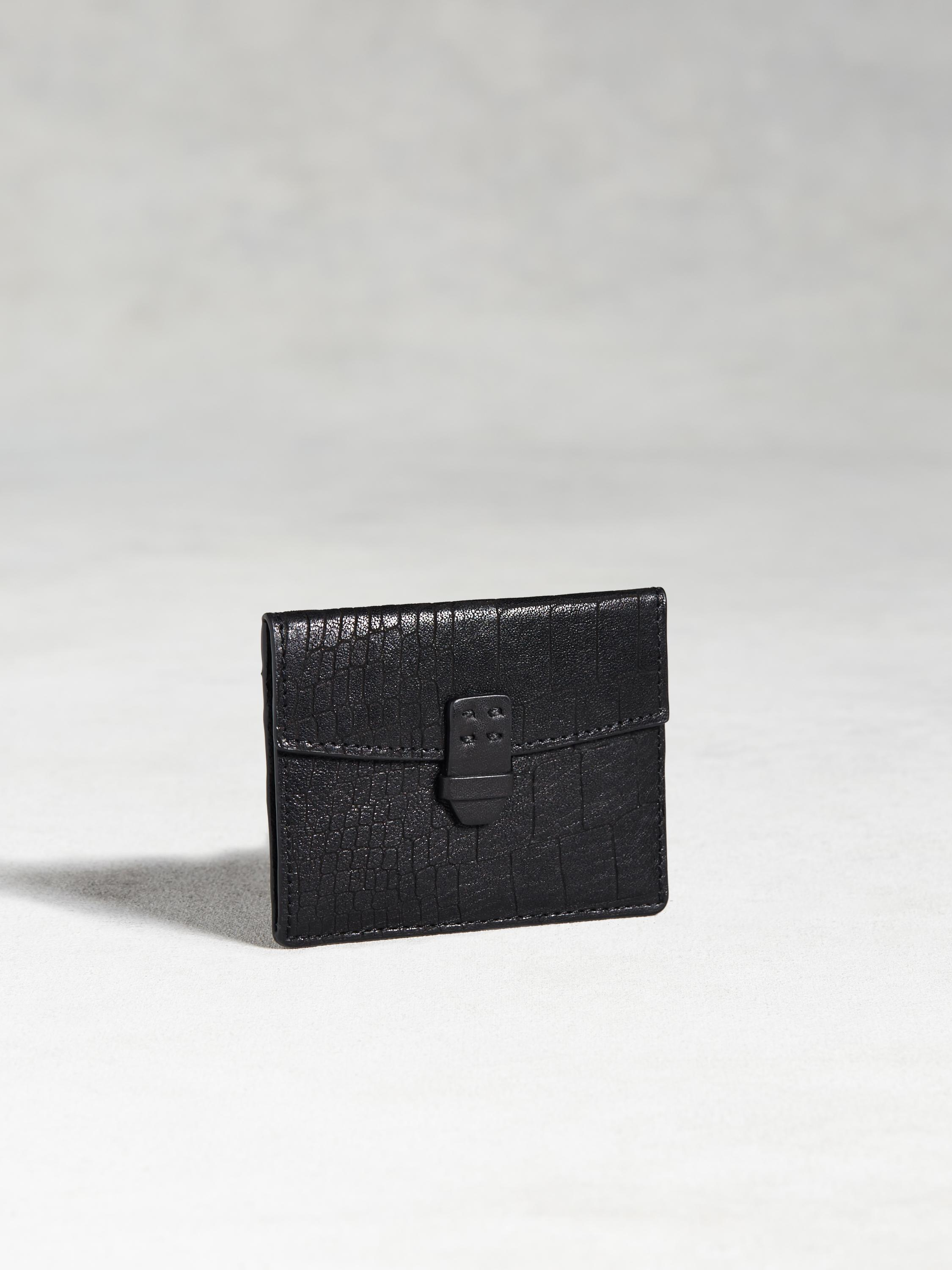 Croc-Embossed Card Case