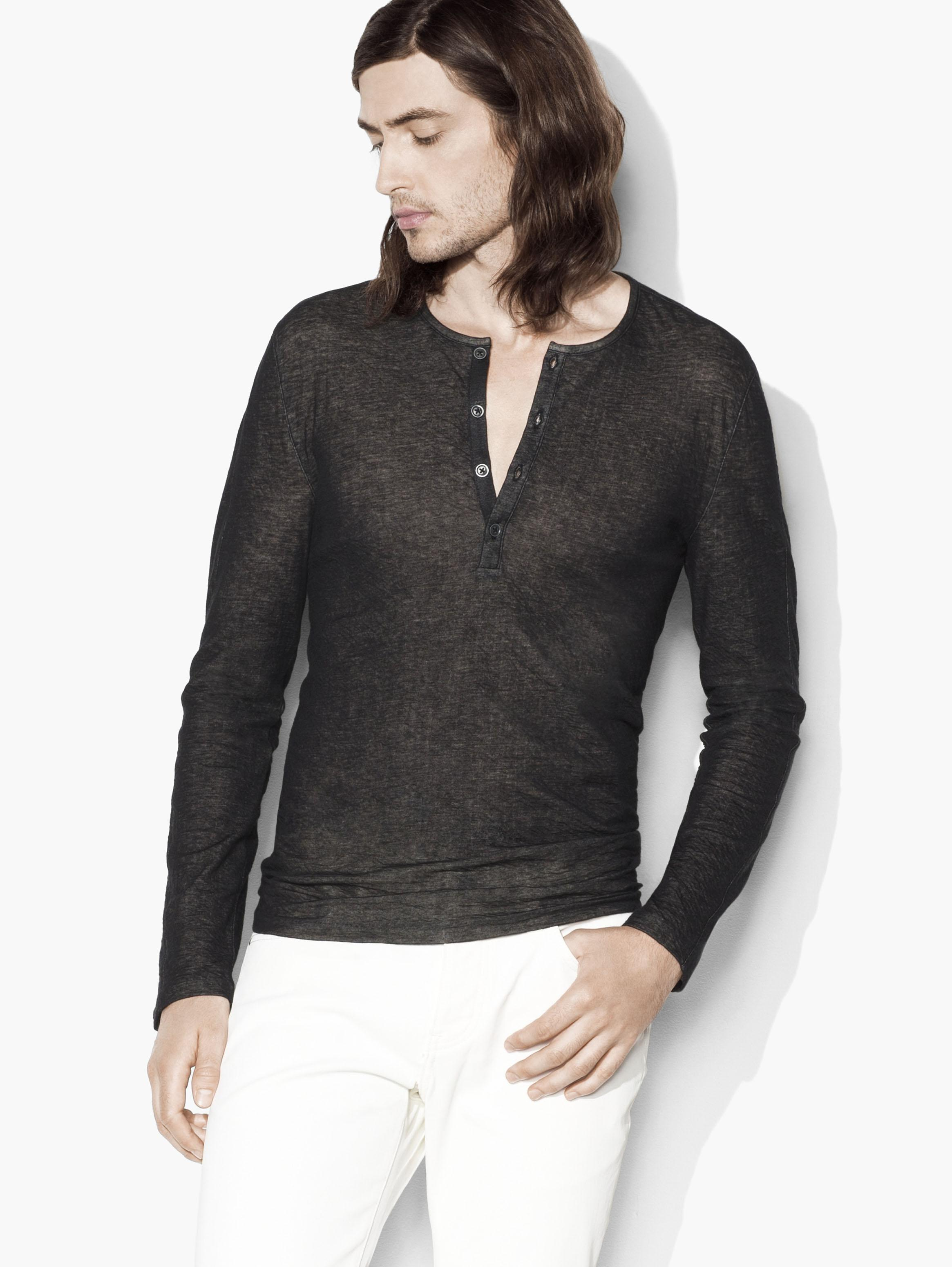Double Face Knit Henley