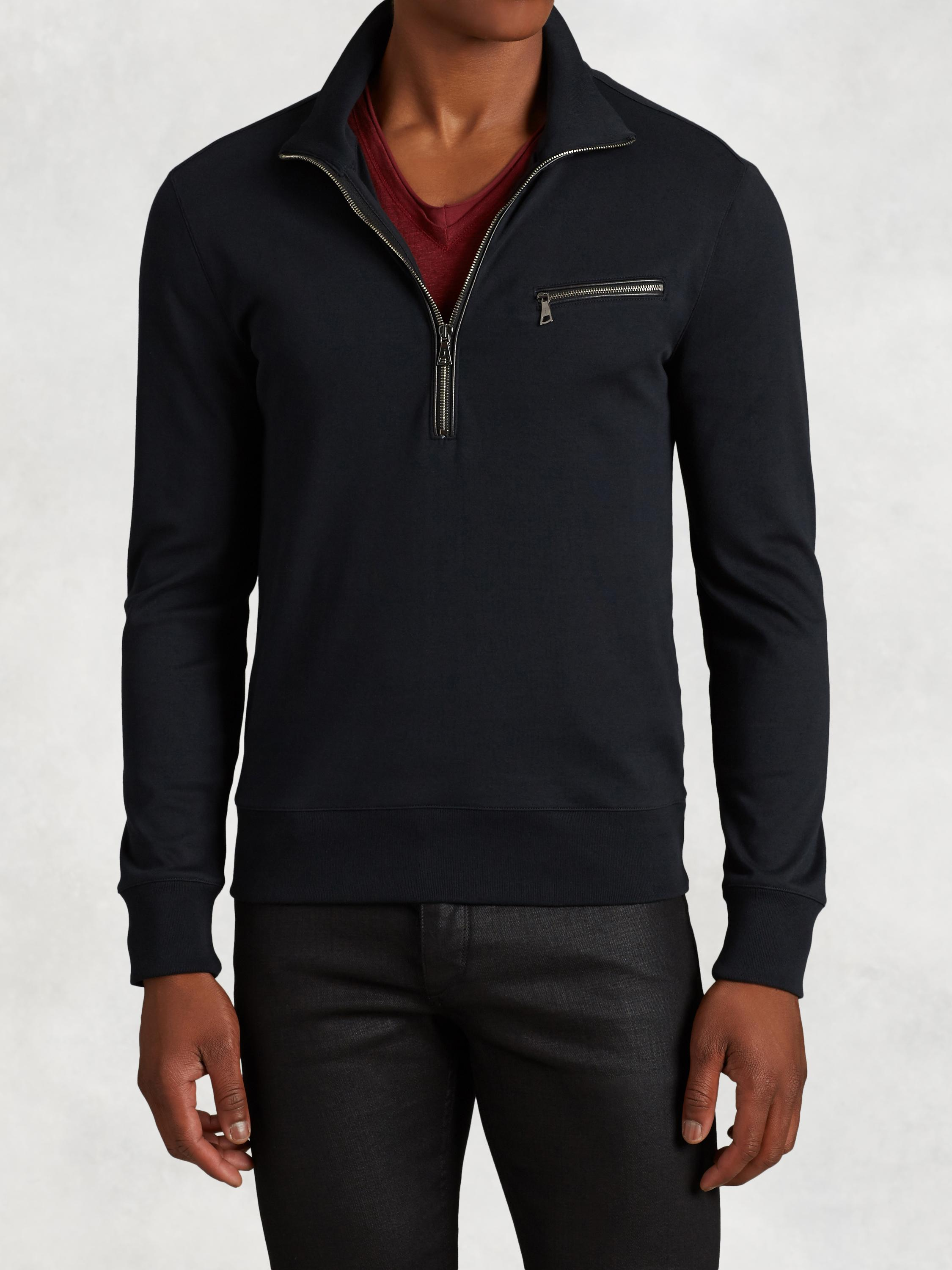 Pima Cotton Half Zip Knit