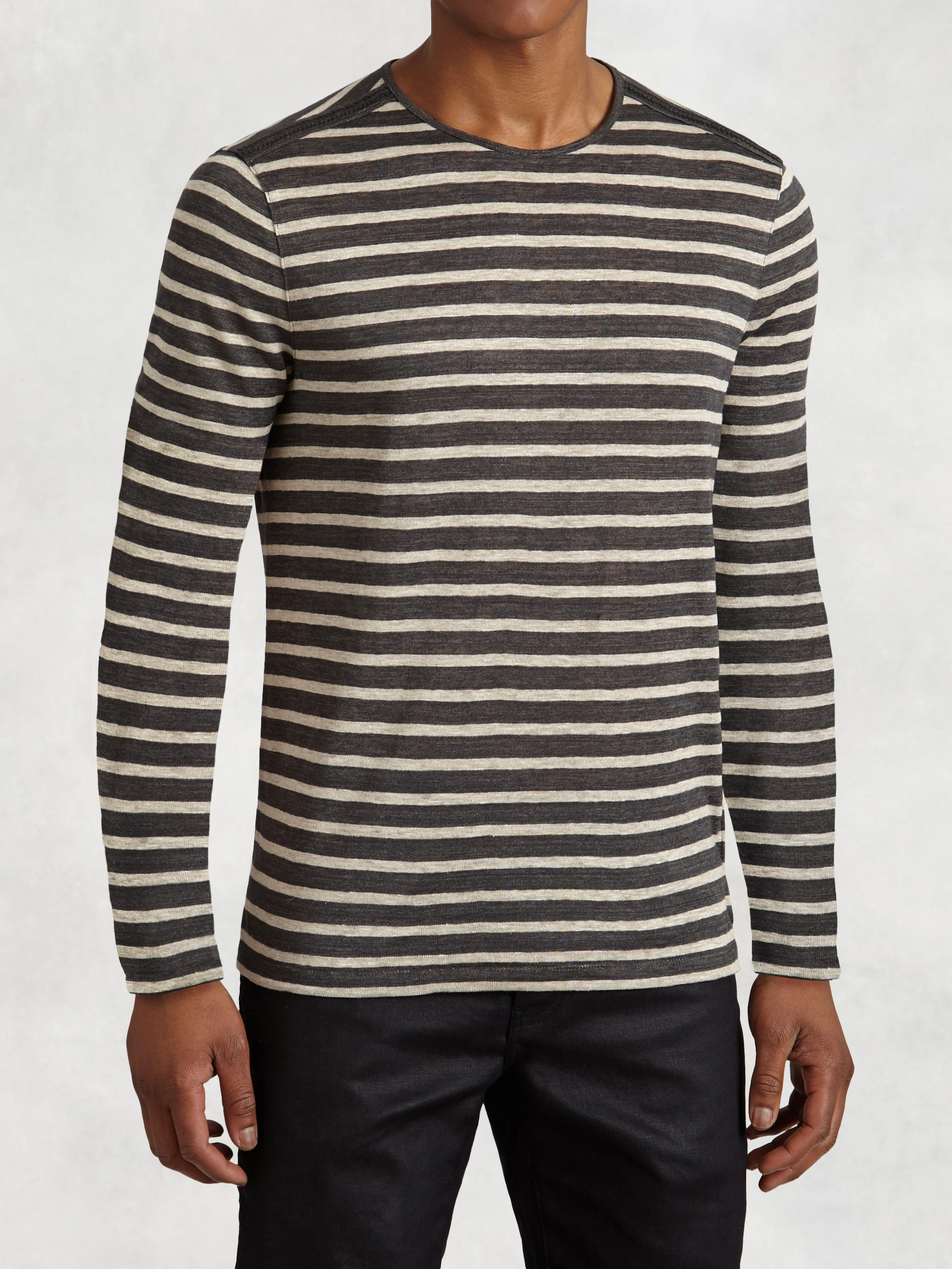 Striped Knit Crewneck