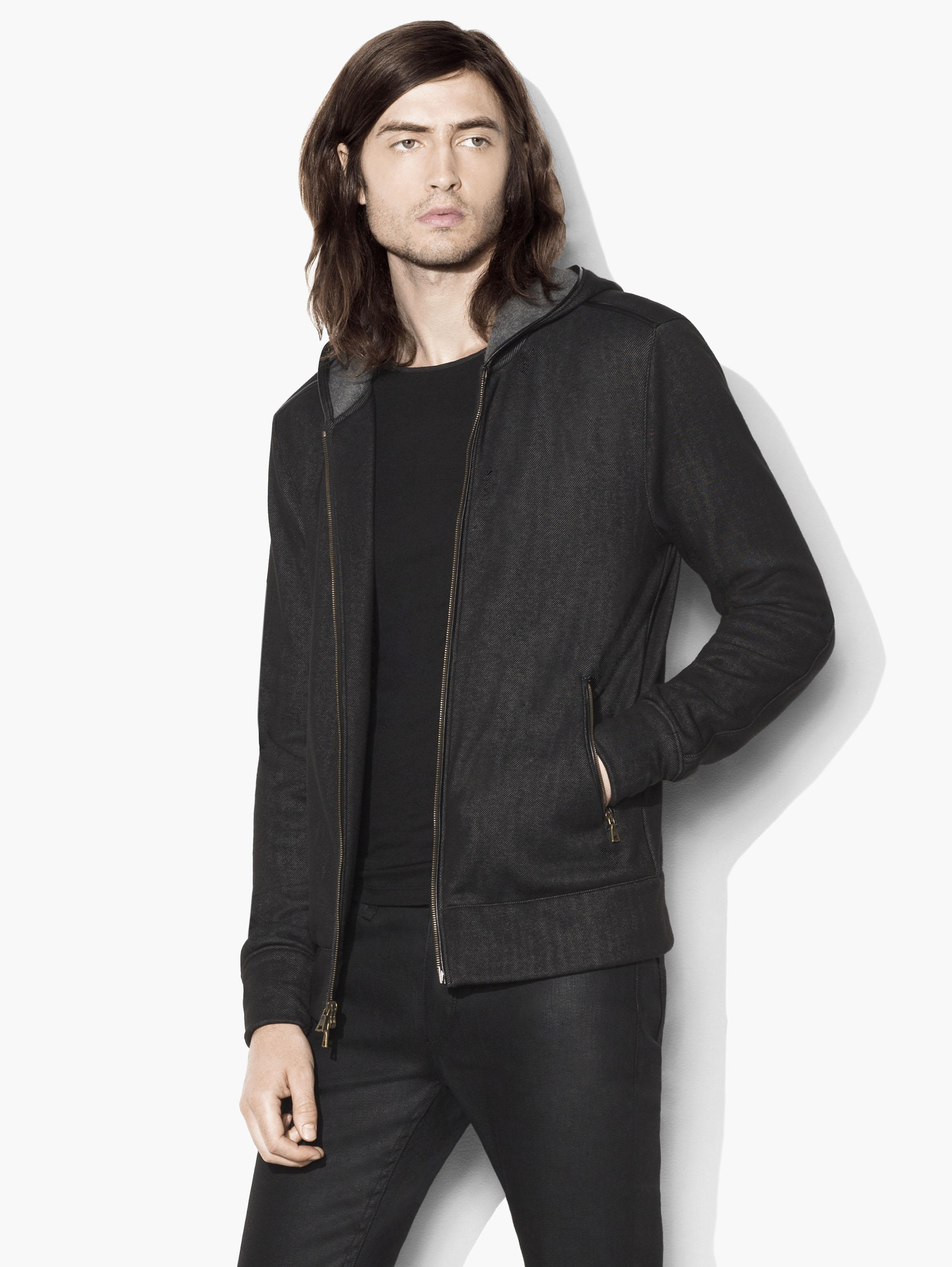 Zipped Hooded Knit Jacket