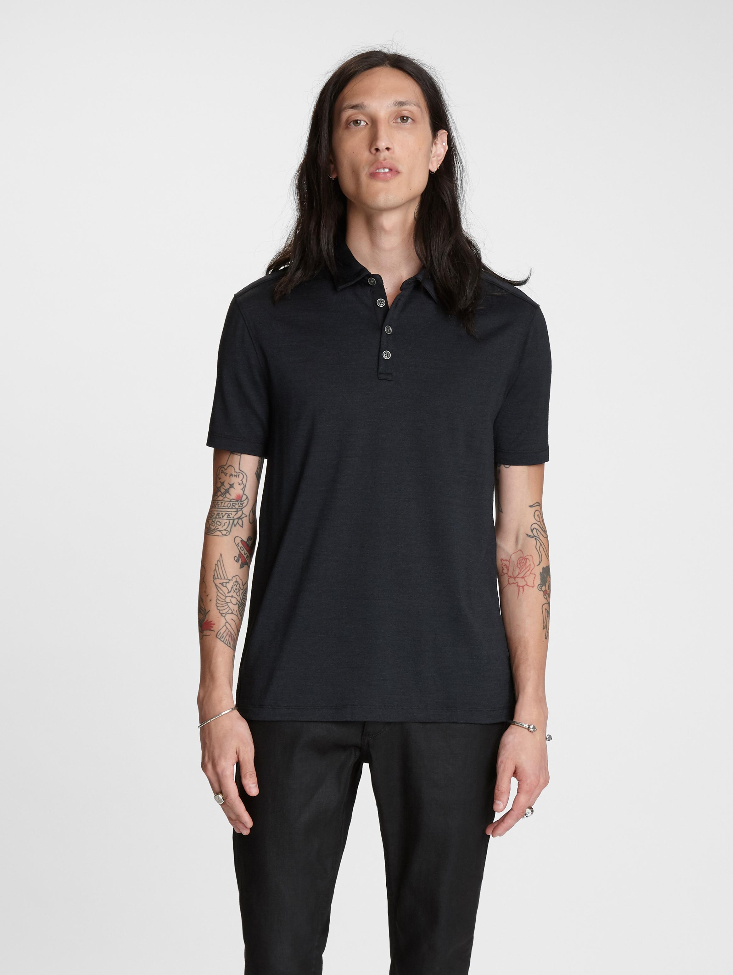 Silk-Cotton Hampton Polo