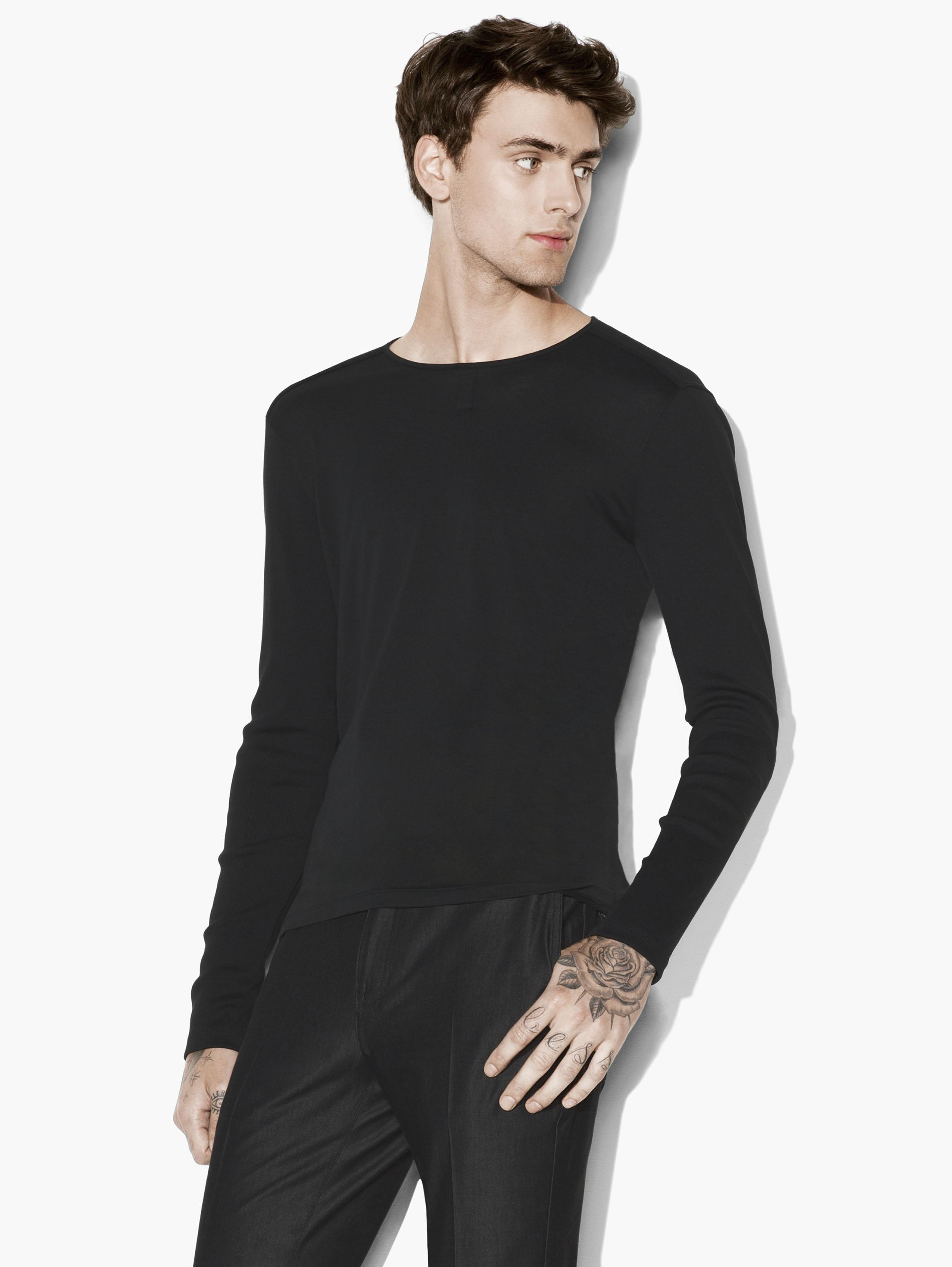 LONG SLEEVE PIMA COTTON HENLEY