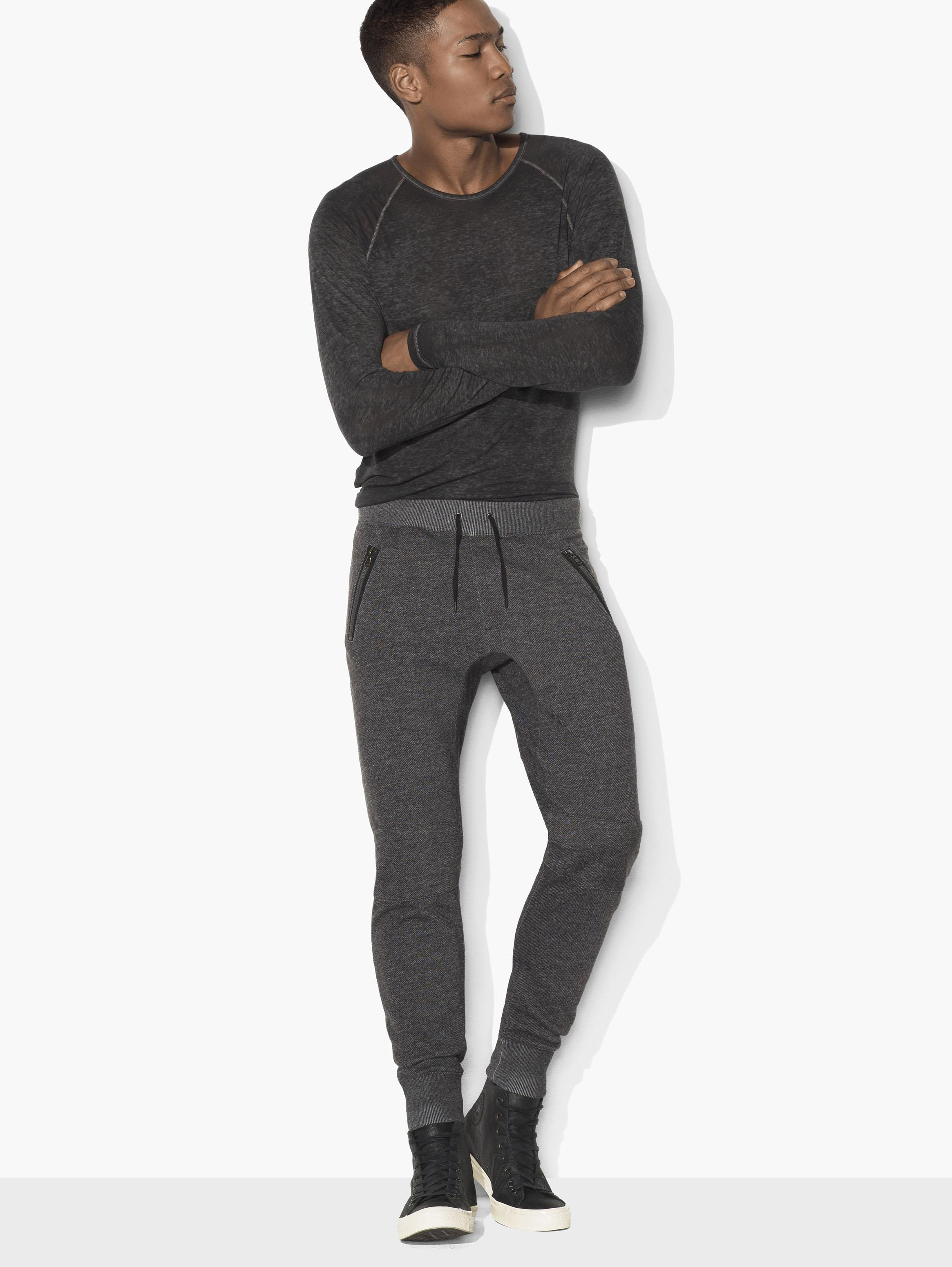 Marled Knit Sweatpants