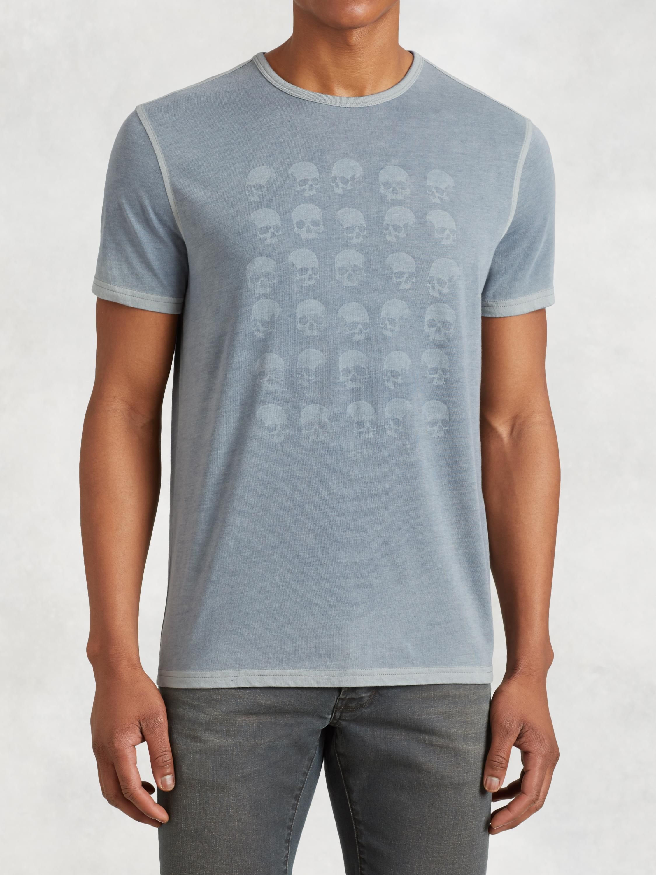 Skull Rows Graphic Tee
