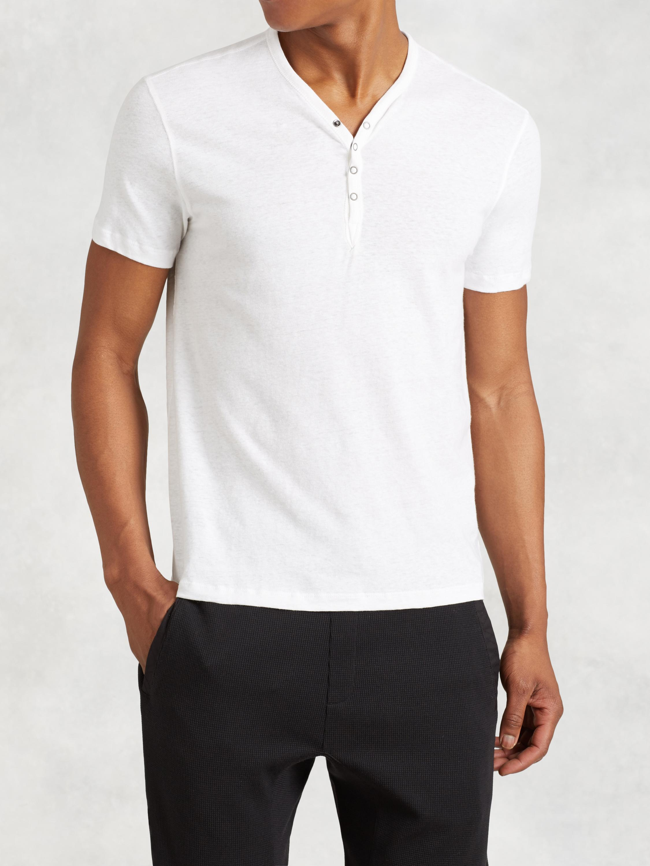 Snap Front Henley