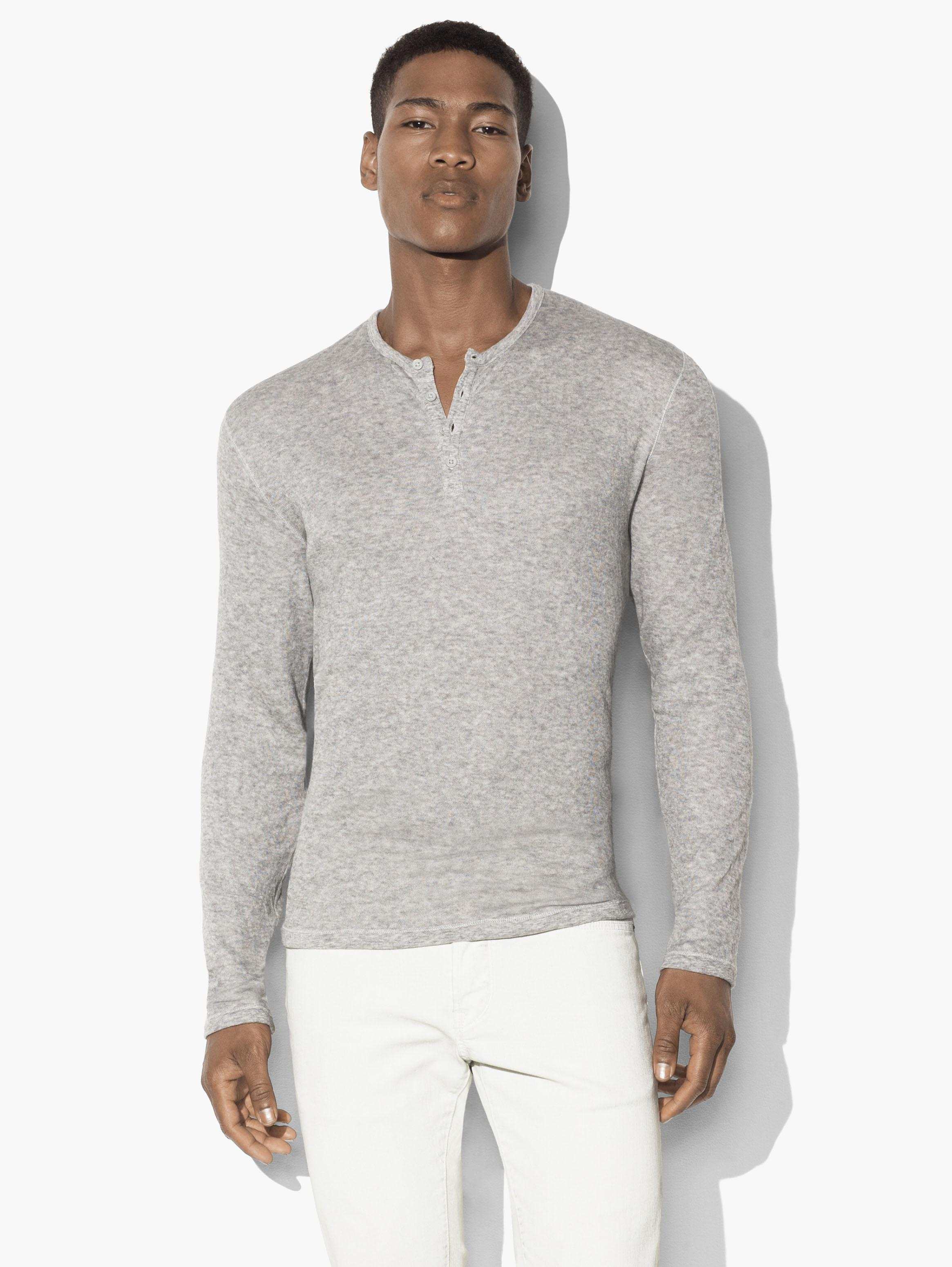 Mini-Jacquard Henley Sweater
