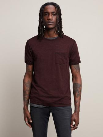 Short Sleeve Burnout Crew Neck