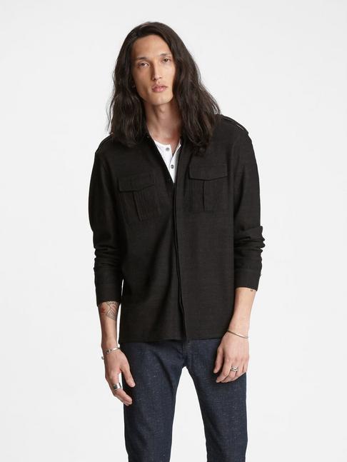 Knit Military Shirt
