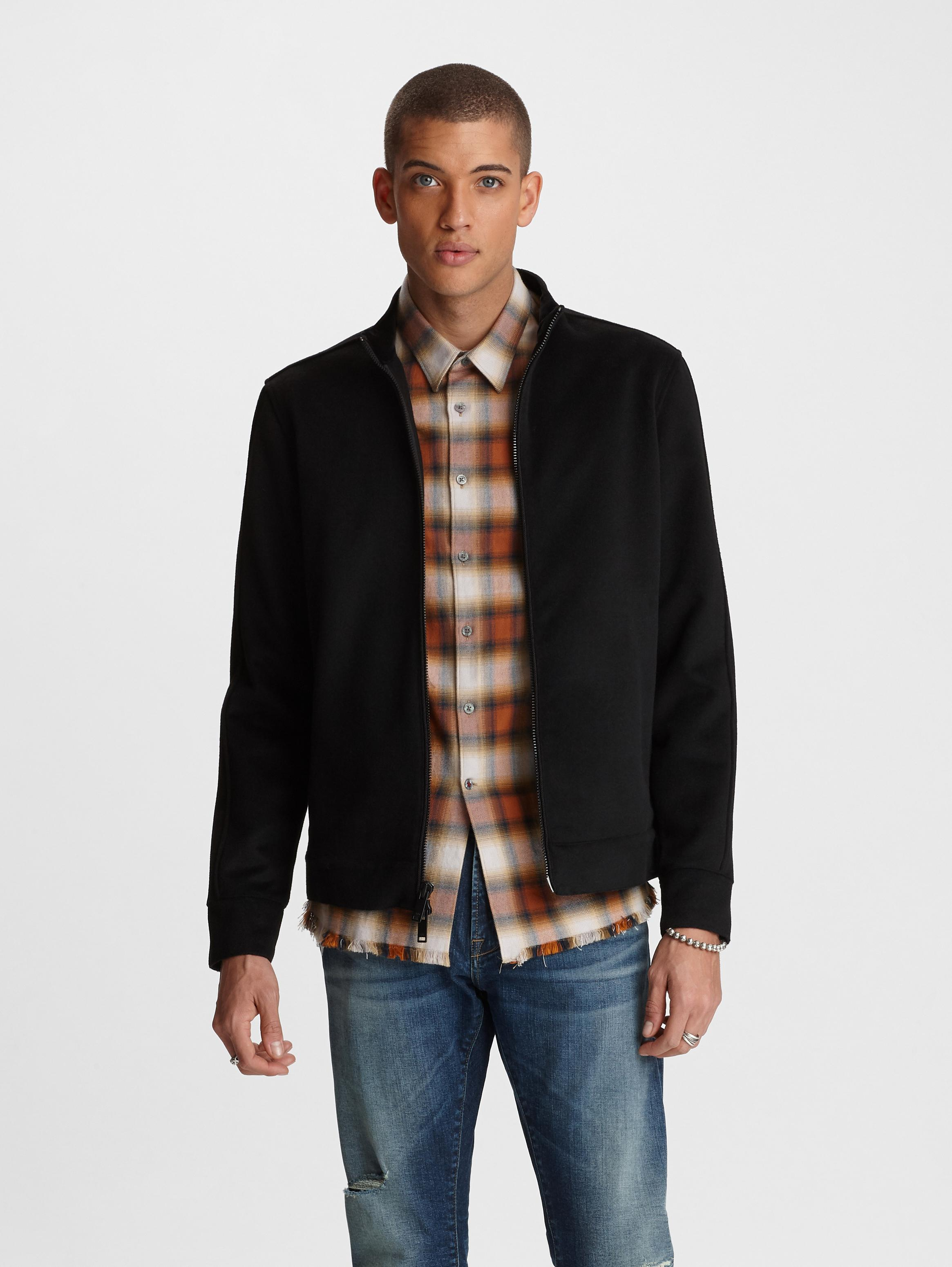 John Varvatos Anaheim Felted Wool Jacket Black