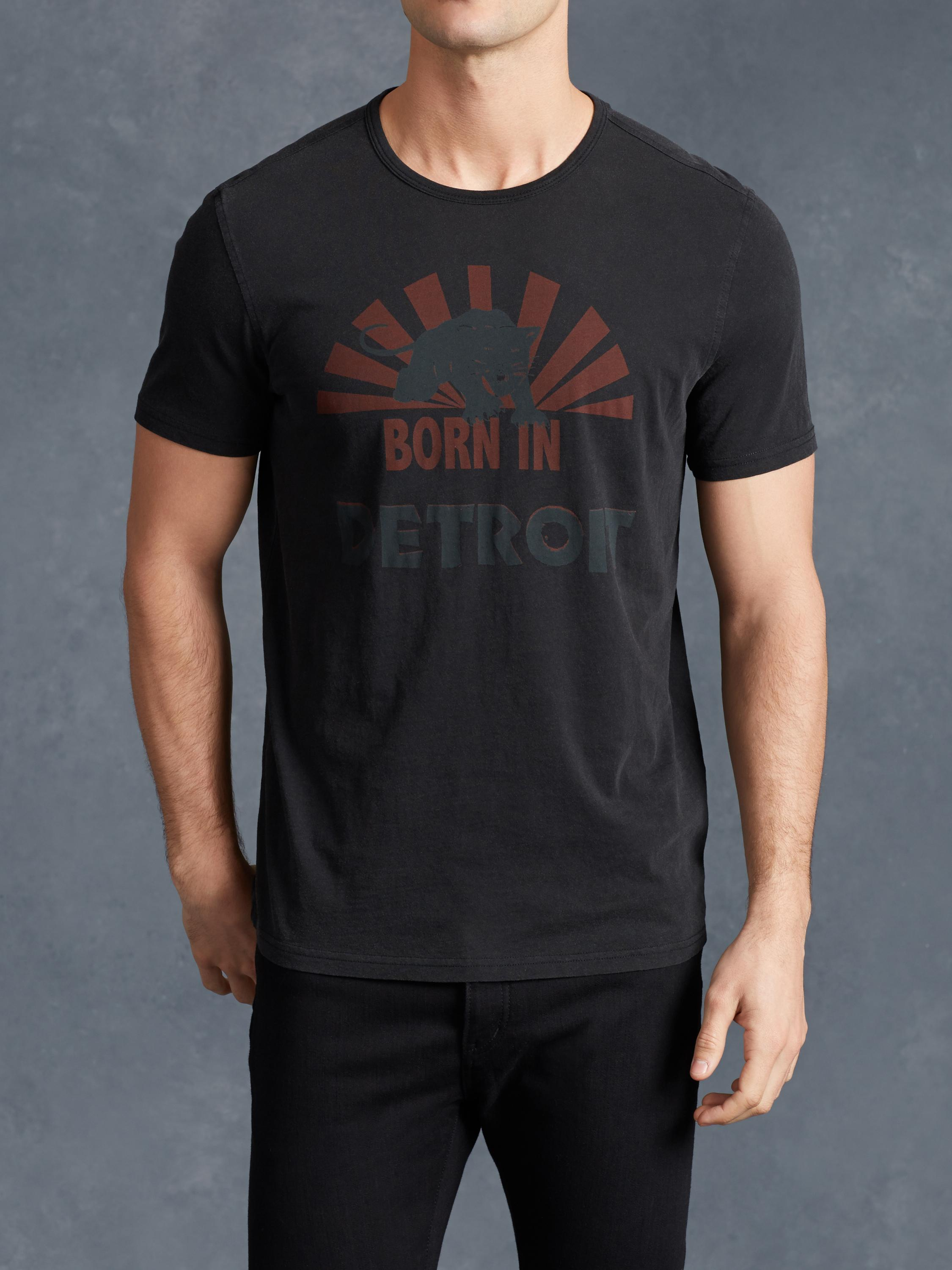 Born In Detroit Graphic Tee