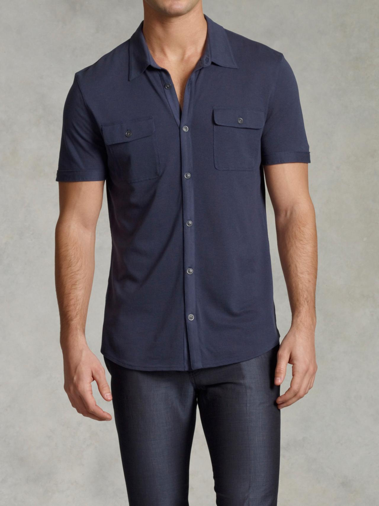 Short Sleeve Button Front Shirt
