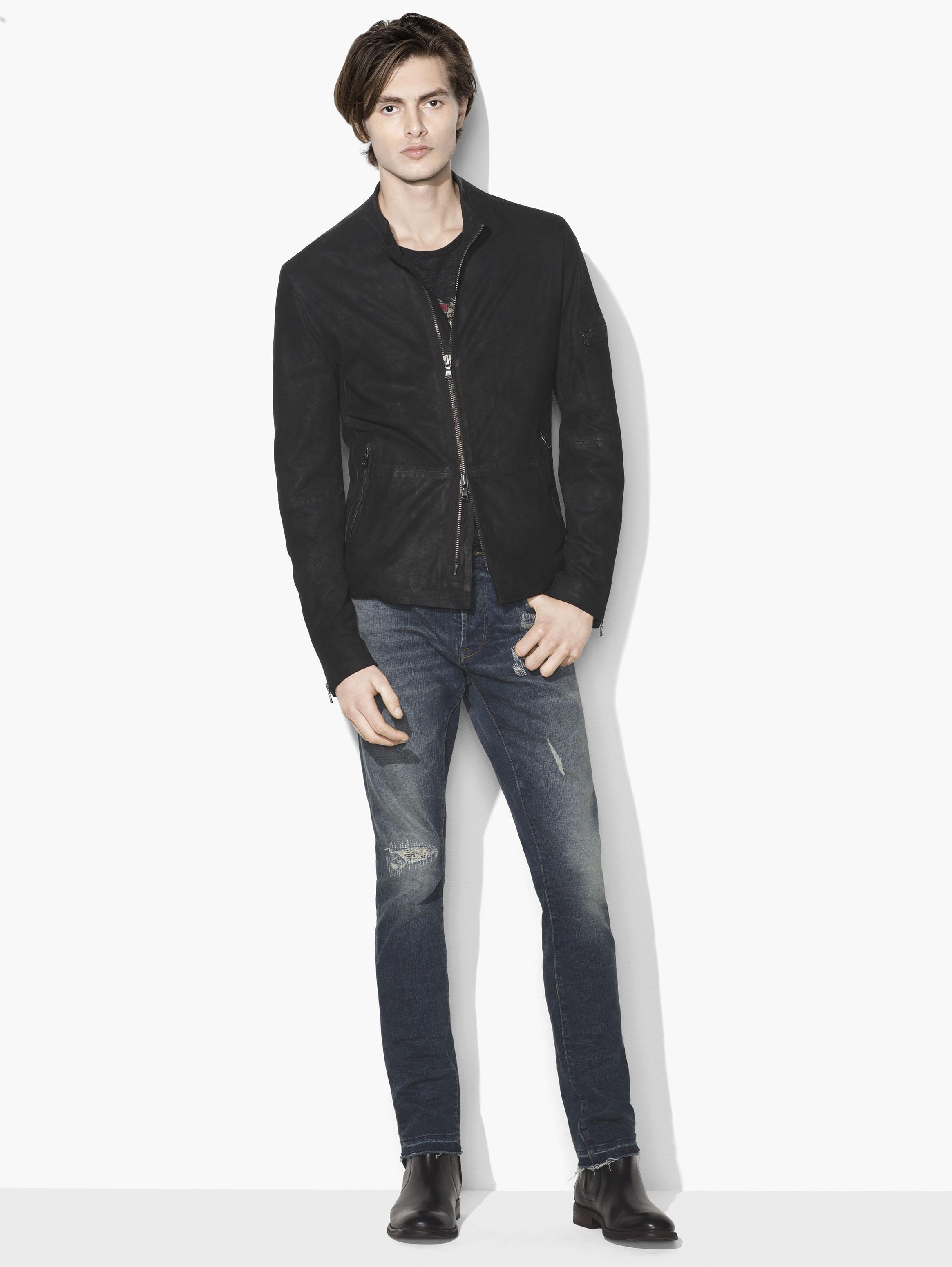 CafÉ Racer Leather Jacket by John Varvatos
