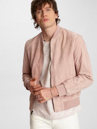 Noel Suede Bomber Jacket
