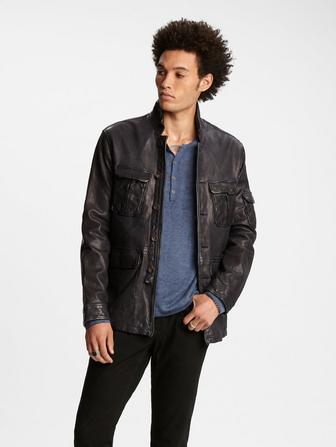 Leather Officer Jacket