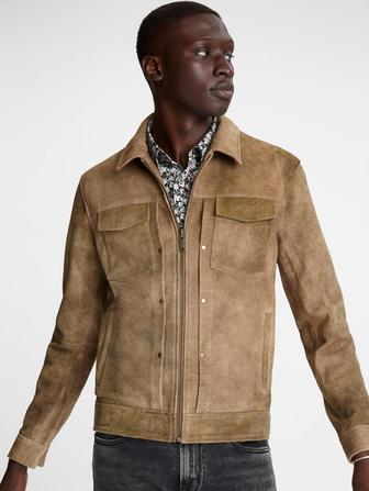 Travis Leather Trucker Jacket