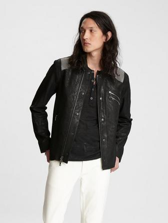 SHEEP SKIN SHIRT-JACKET WITH ZIP/BUTTON