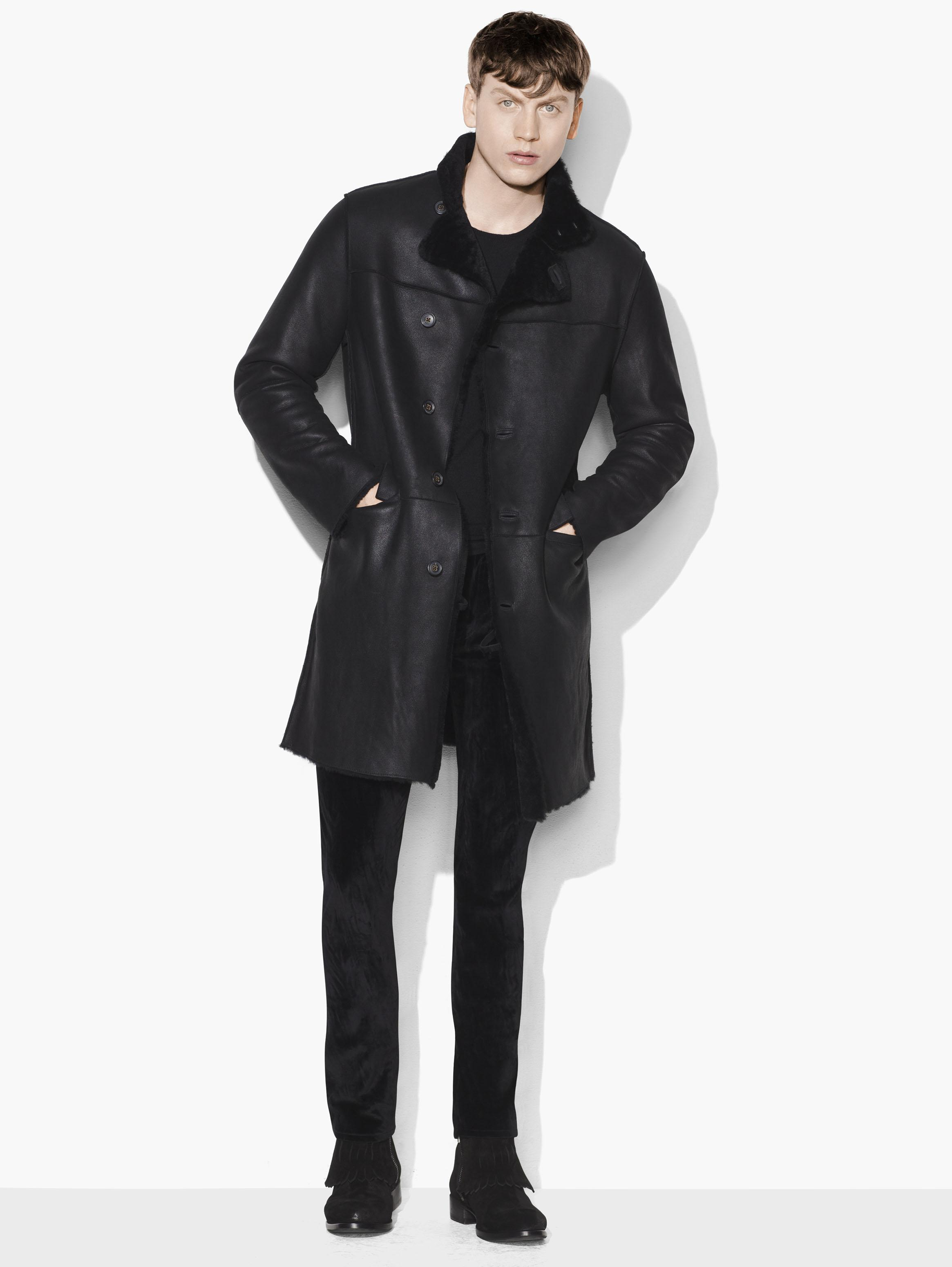 Asymmetric Shearling Coat