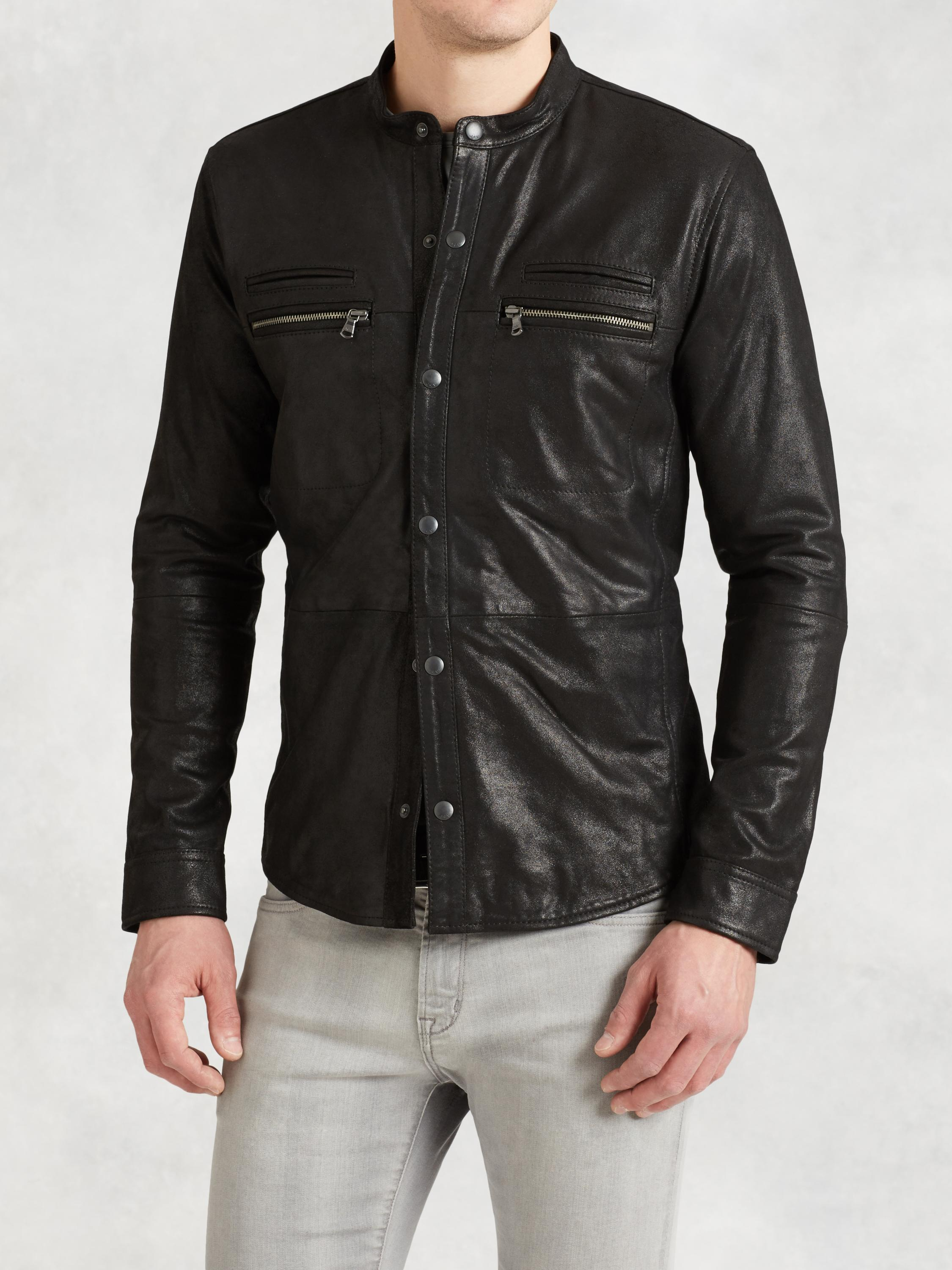 Goatskin Zip Shirt Jacket