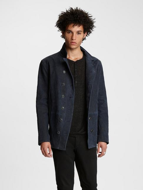 Double-Breasted Suede Jacket