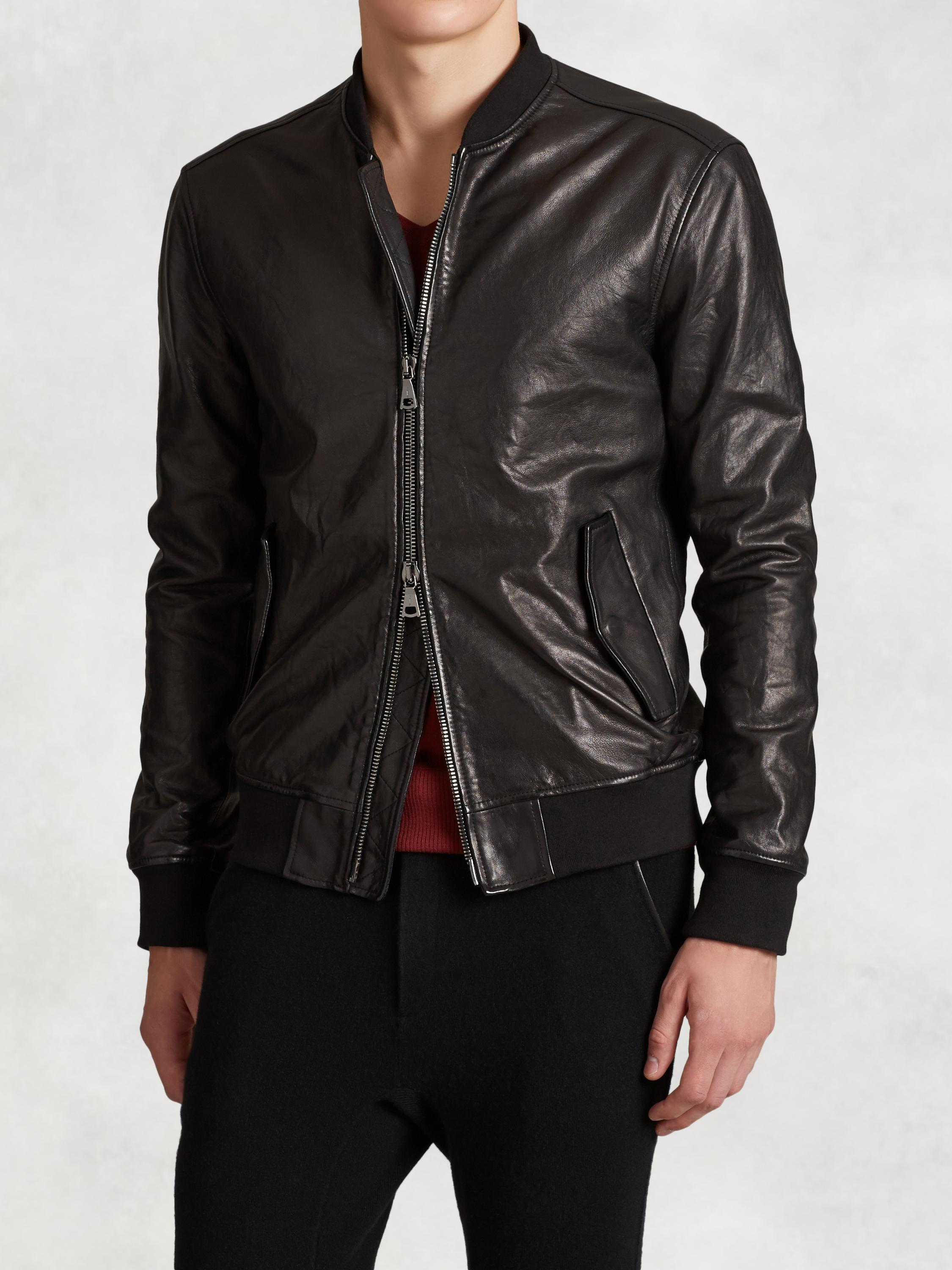 Lambskin Leather Bomber