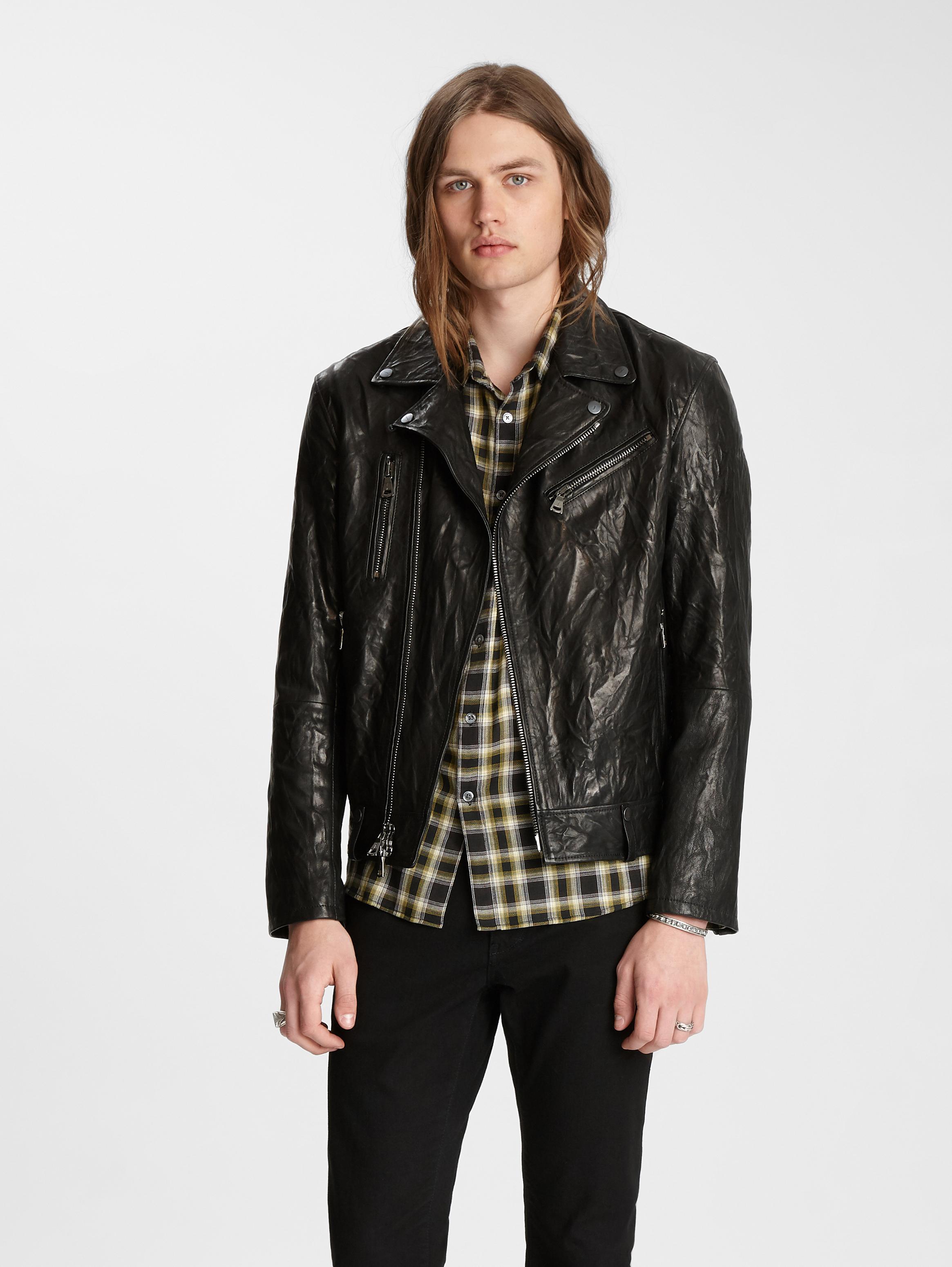 John Varvatos Artisan Biker Jacket Black