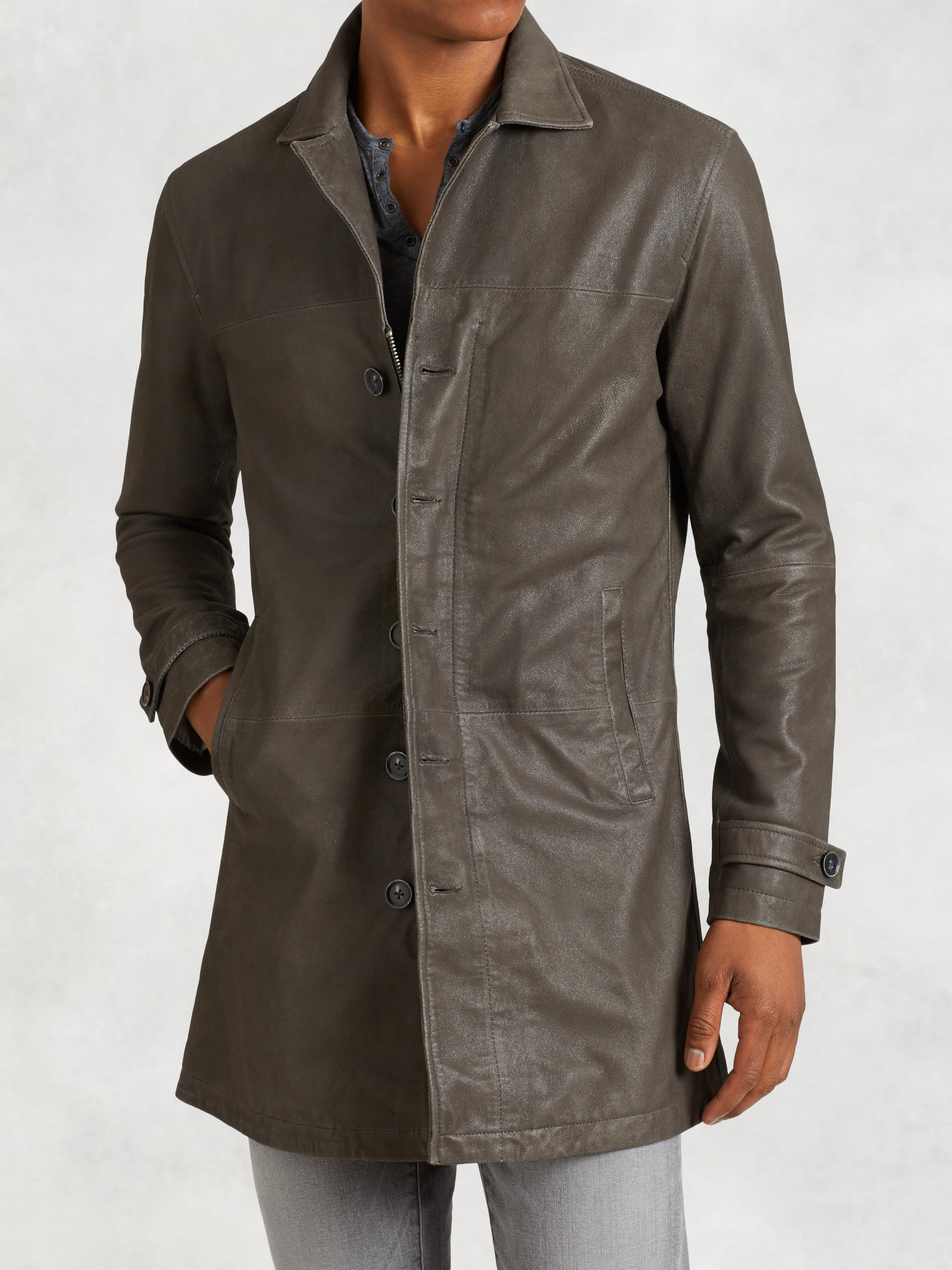 Goatskin Leather Trench